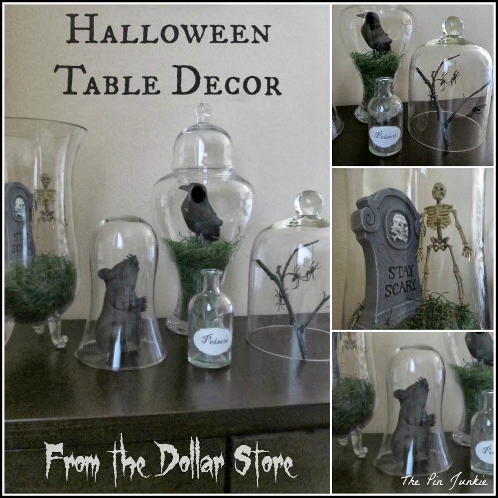 Dollar Store Halloween Decor Tablescape
