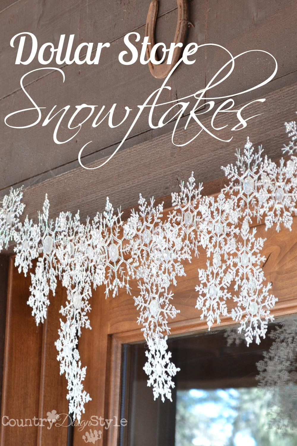 Dollar Store Snowflakes Country Design Style