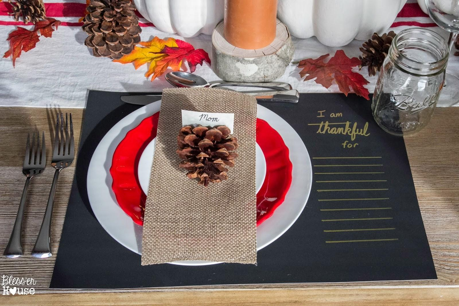 Dollar Store Thanksgiving Tablescape Bless House