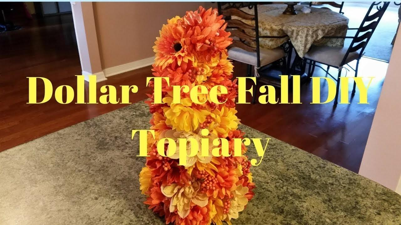 Dollar Tree Diy Fall Topiary Crafts Projects
