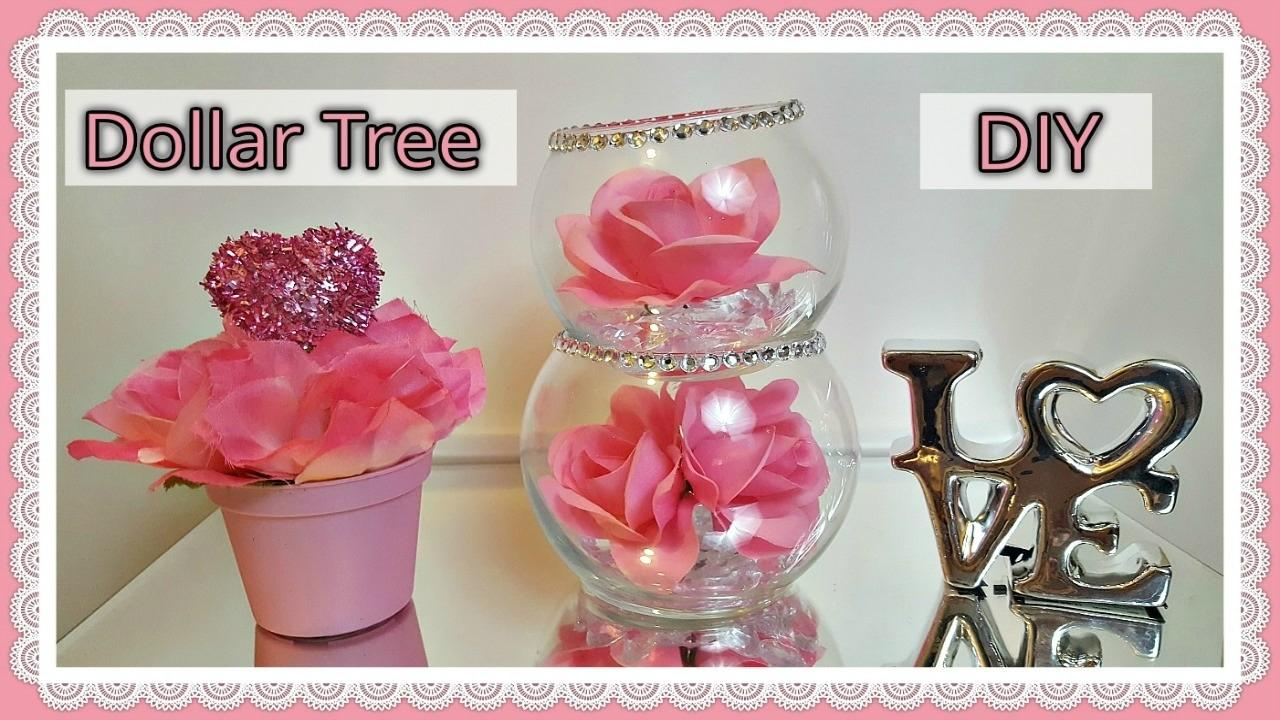 Dollar Tree Diy Valentine Day 2017 Glam Floral Rose