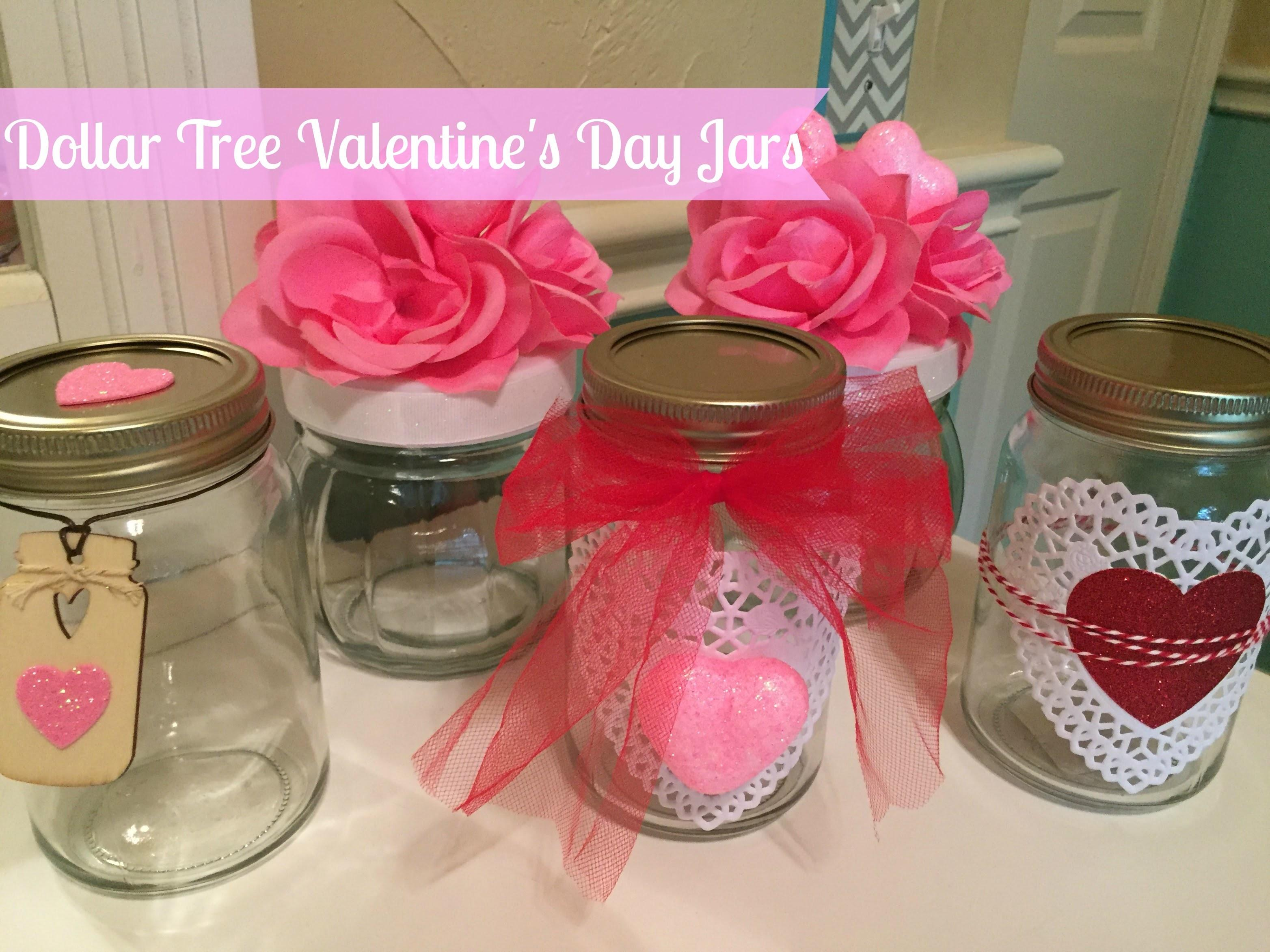 Dollar Tree Diy Valentine Day Decor Jars