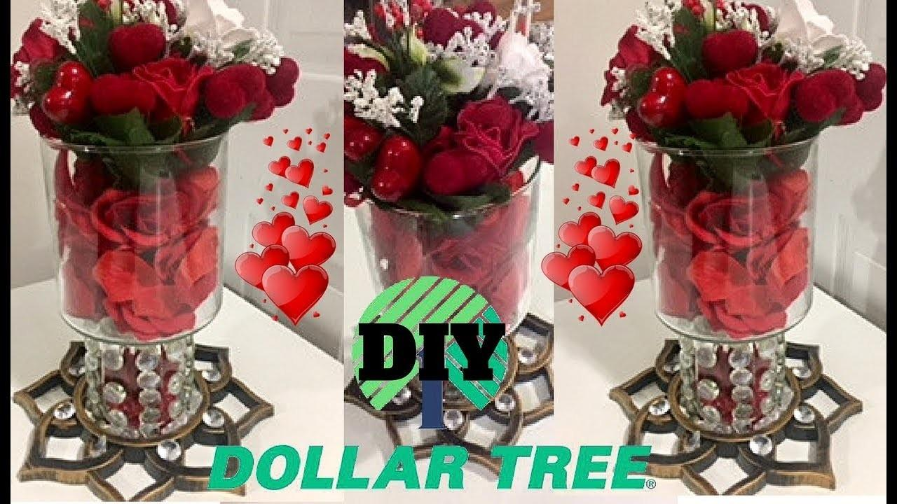 Dollar Tree Diy Valentines Day Centerpiece Easy Rose