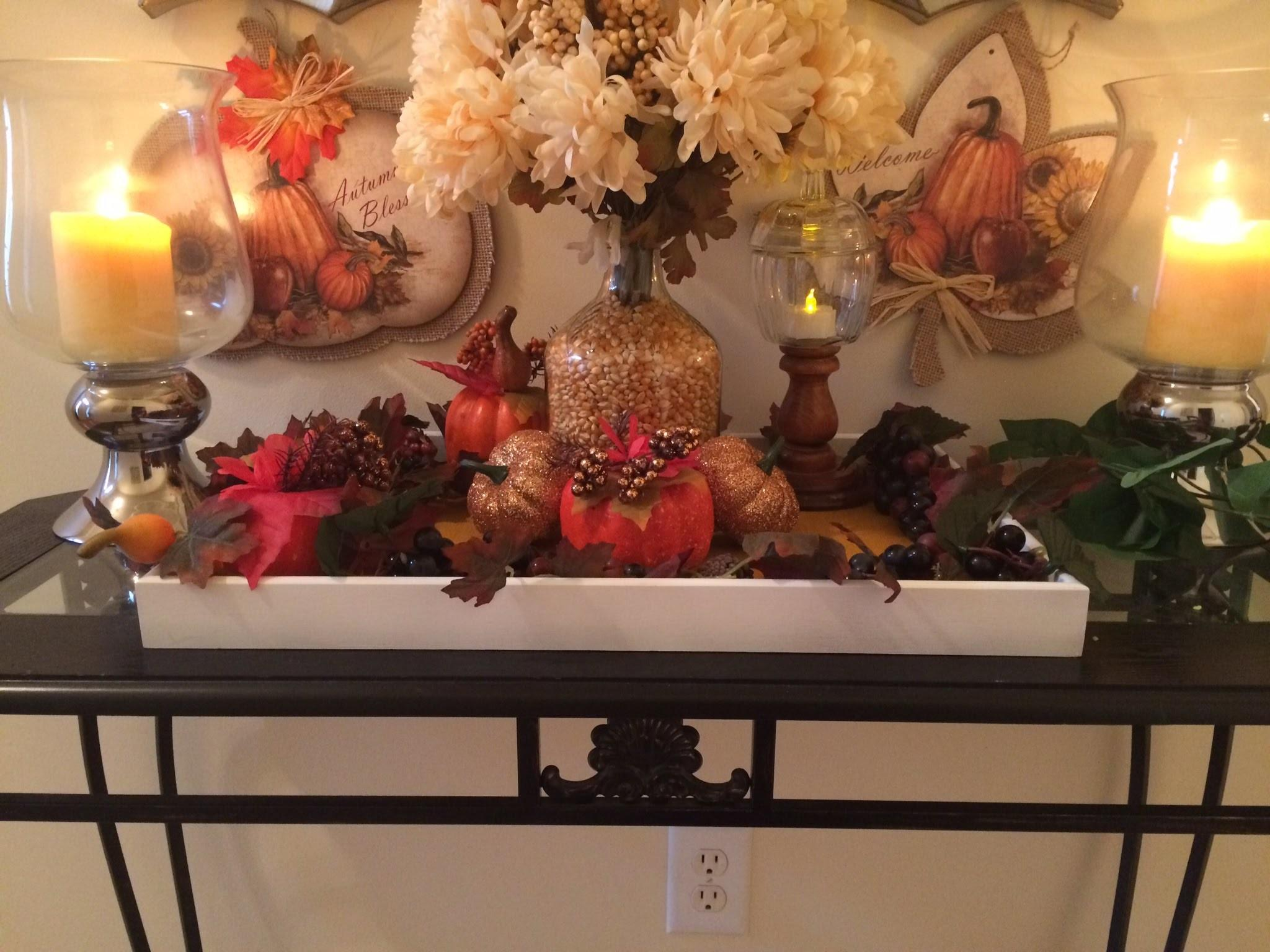 Dollar Tree Fall Decor Painted Trays
