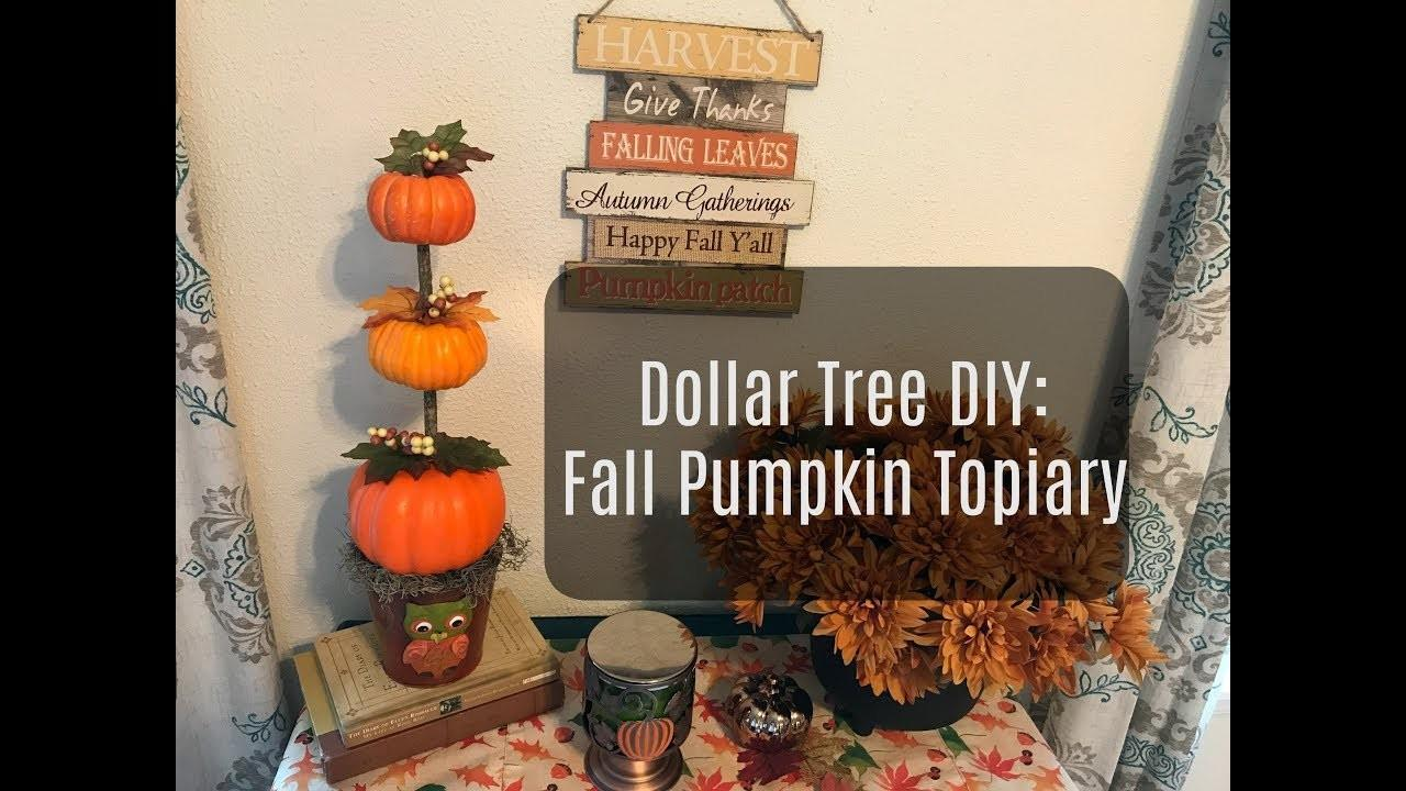 Dollar Tree Fall Pumpkin Topiary Decor Coffee Table Craft Decoratorist 217085