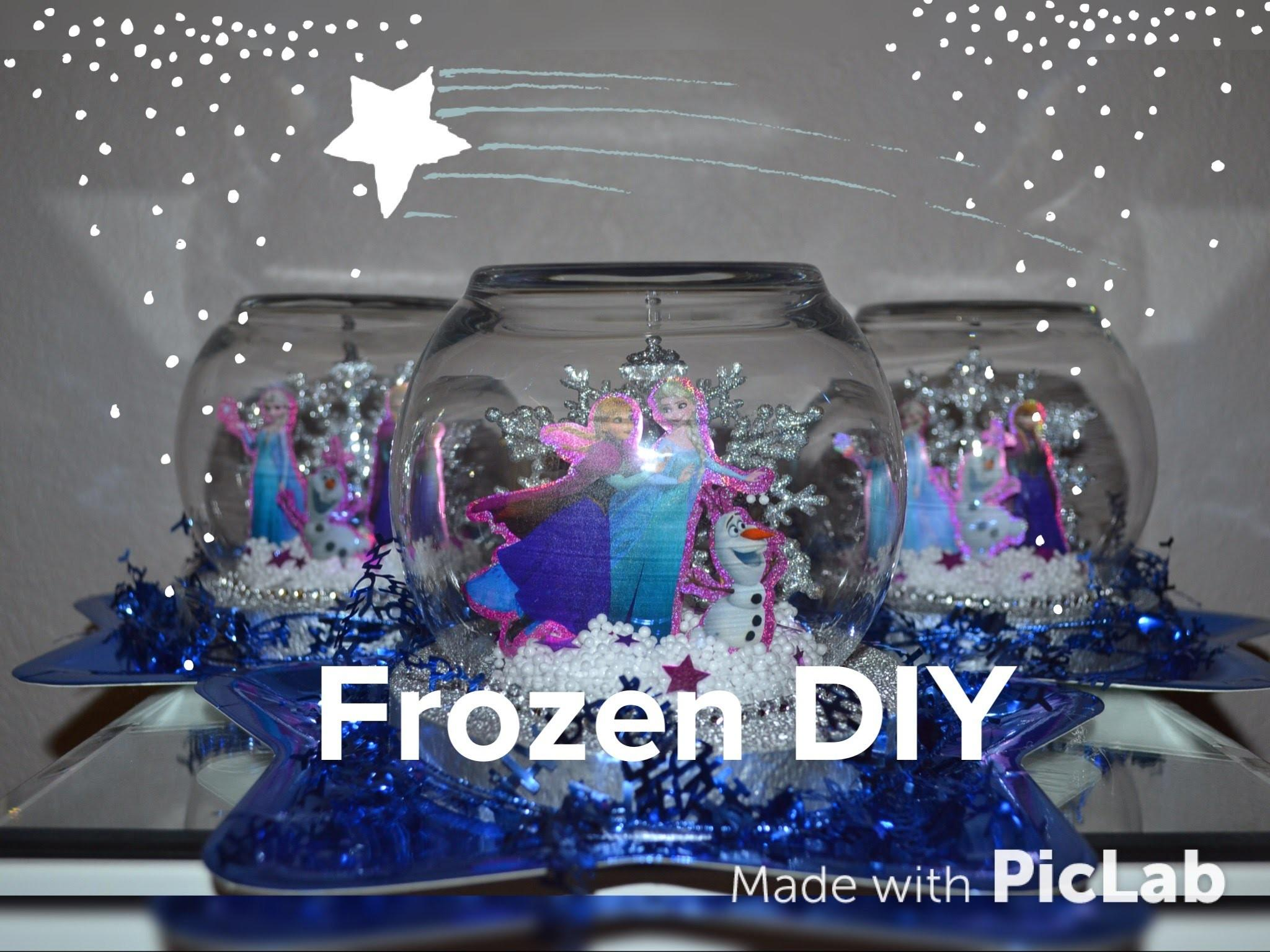 Dollar Tree Frozen Party Centerpiece Diy Easy Snow Globe