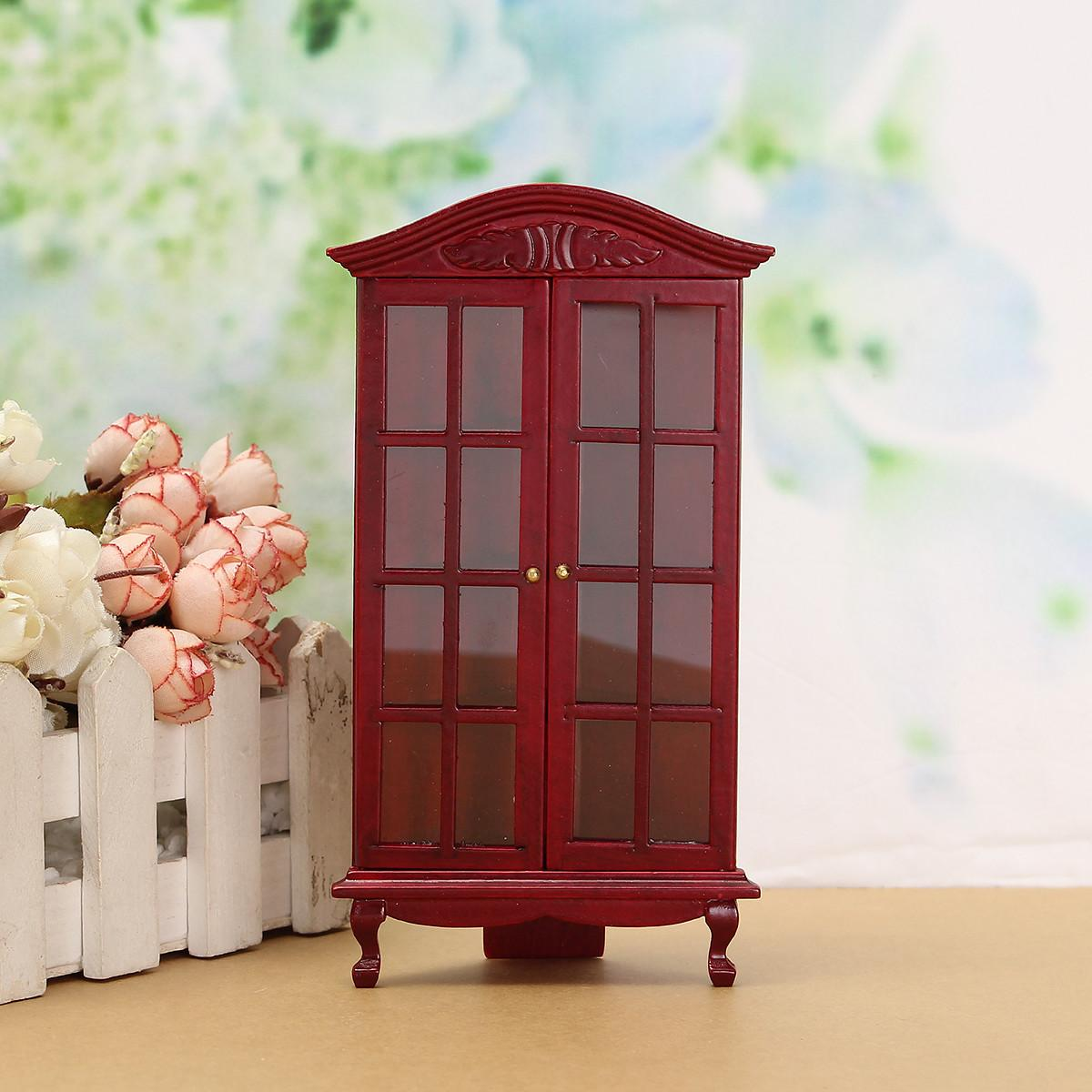 Dollhouse Miniature Furniture Modern White Red Wooden