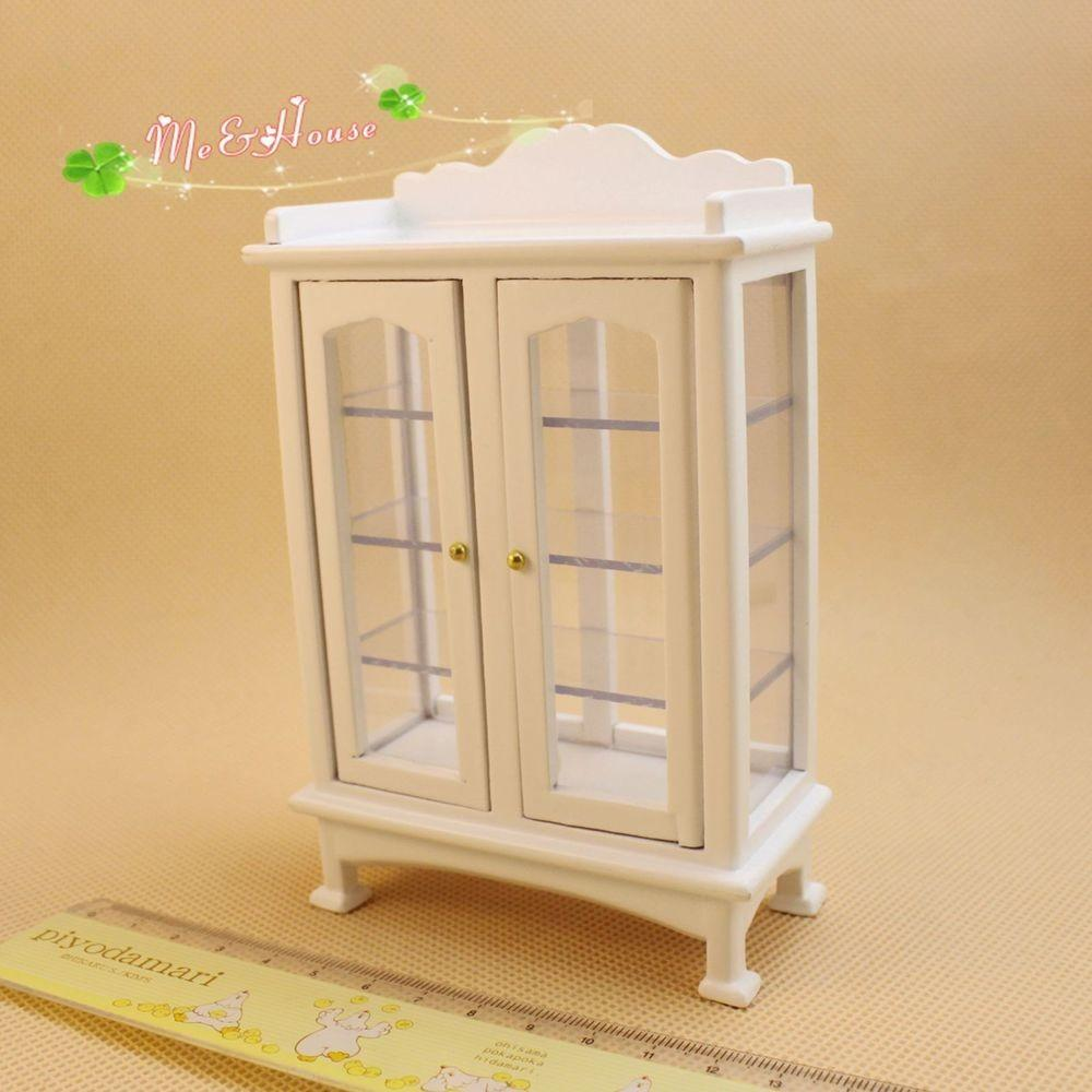 Dollhouse Miniature Furniture Modern White Wooden