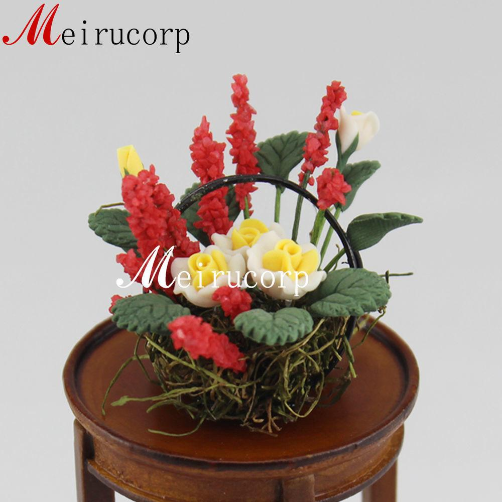 Dollhouse Scale Miniature Bright Colorful Flower