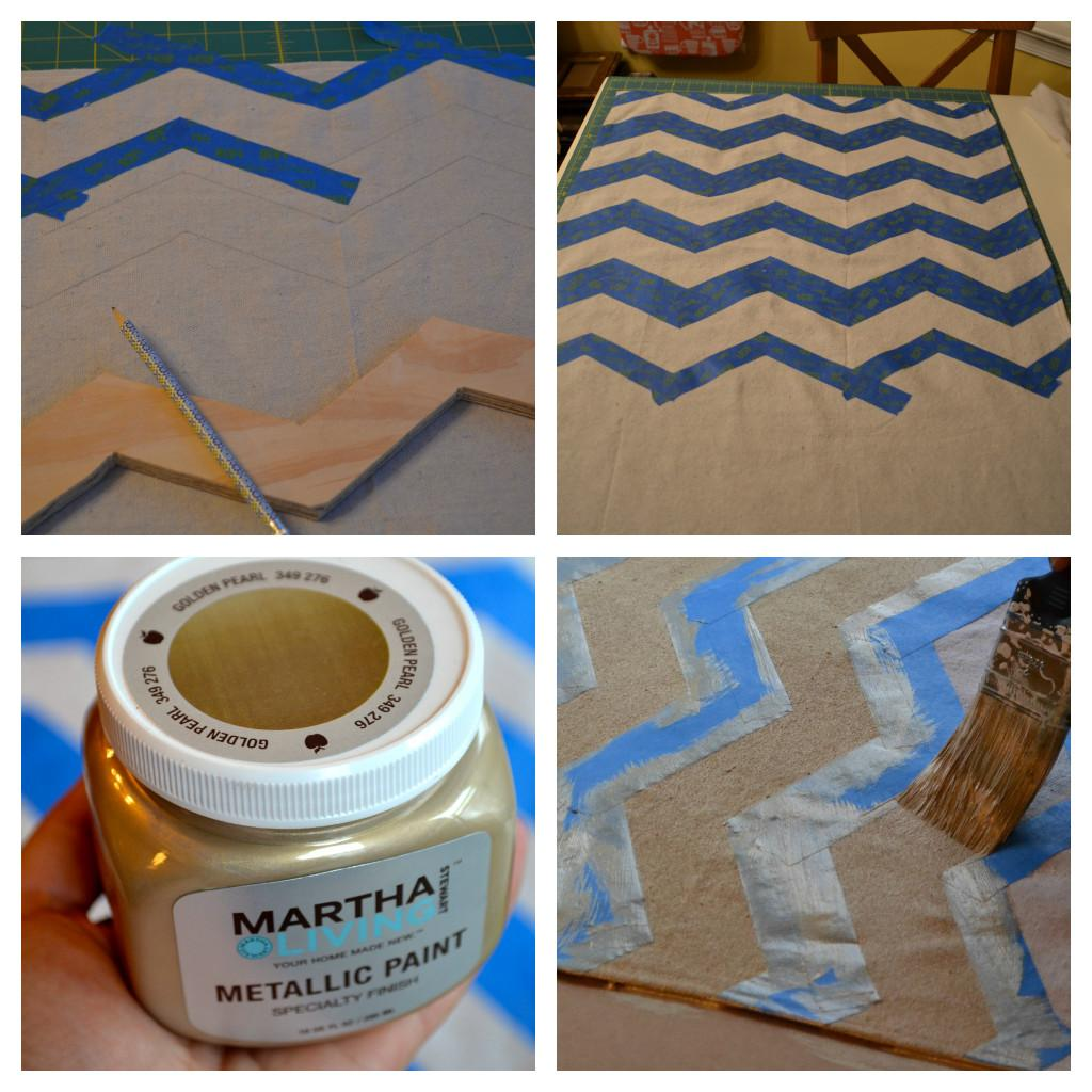Domestic Doozie Diy Painted Chevron Table Runners