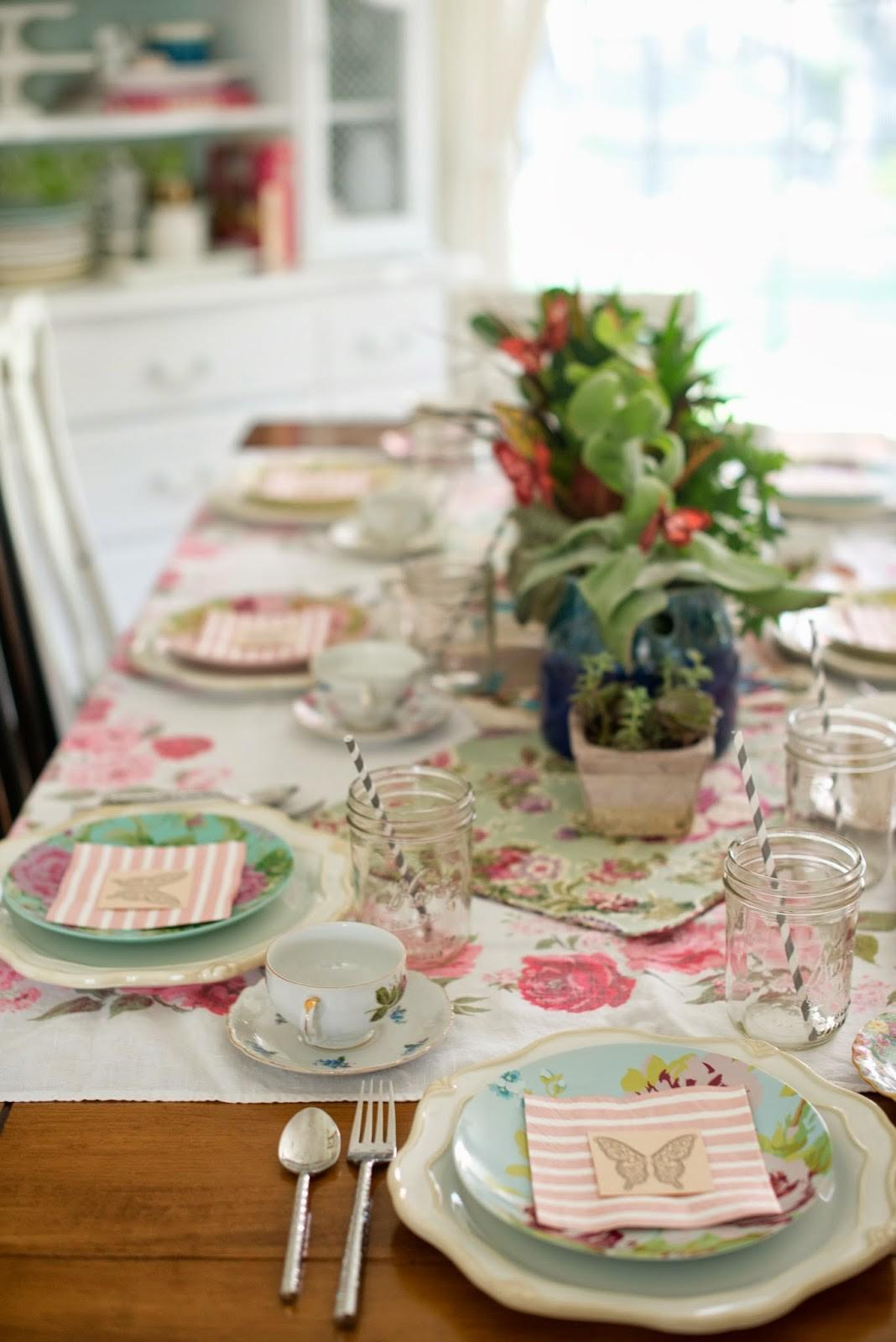 Domestic Fashionista Fairy Garden Tea Party Tablescape