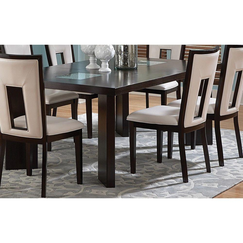 Domino Foot Espresso Dining Table Modern Furniture