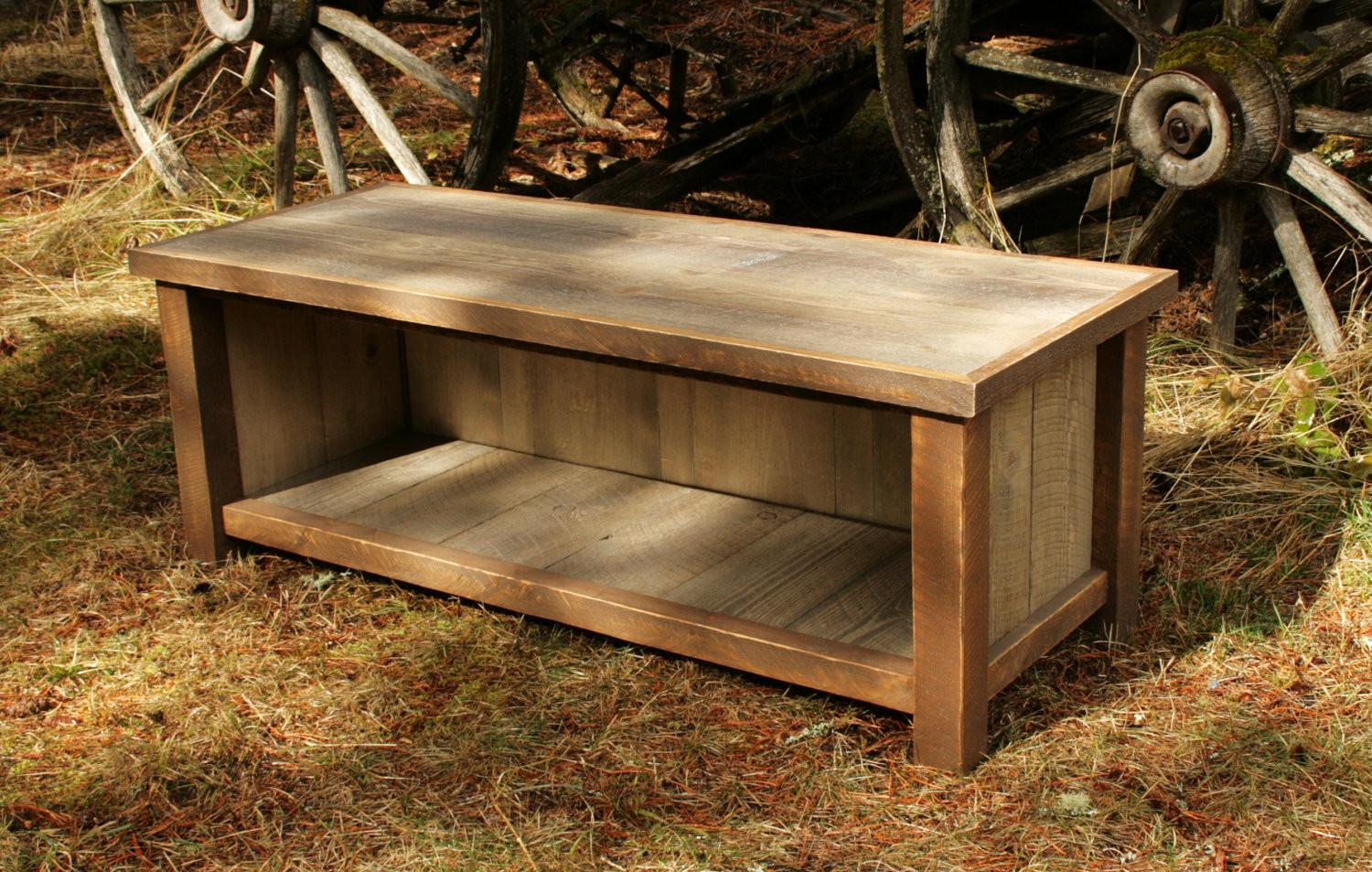 Don Leave Rustic Entryway Bench Decorating Three