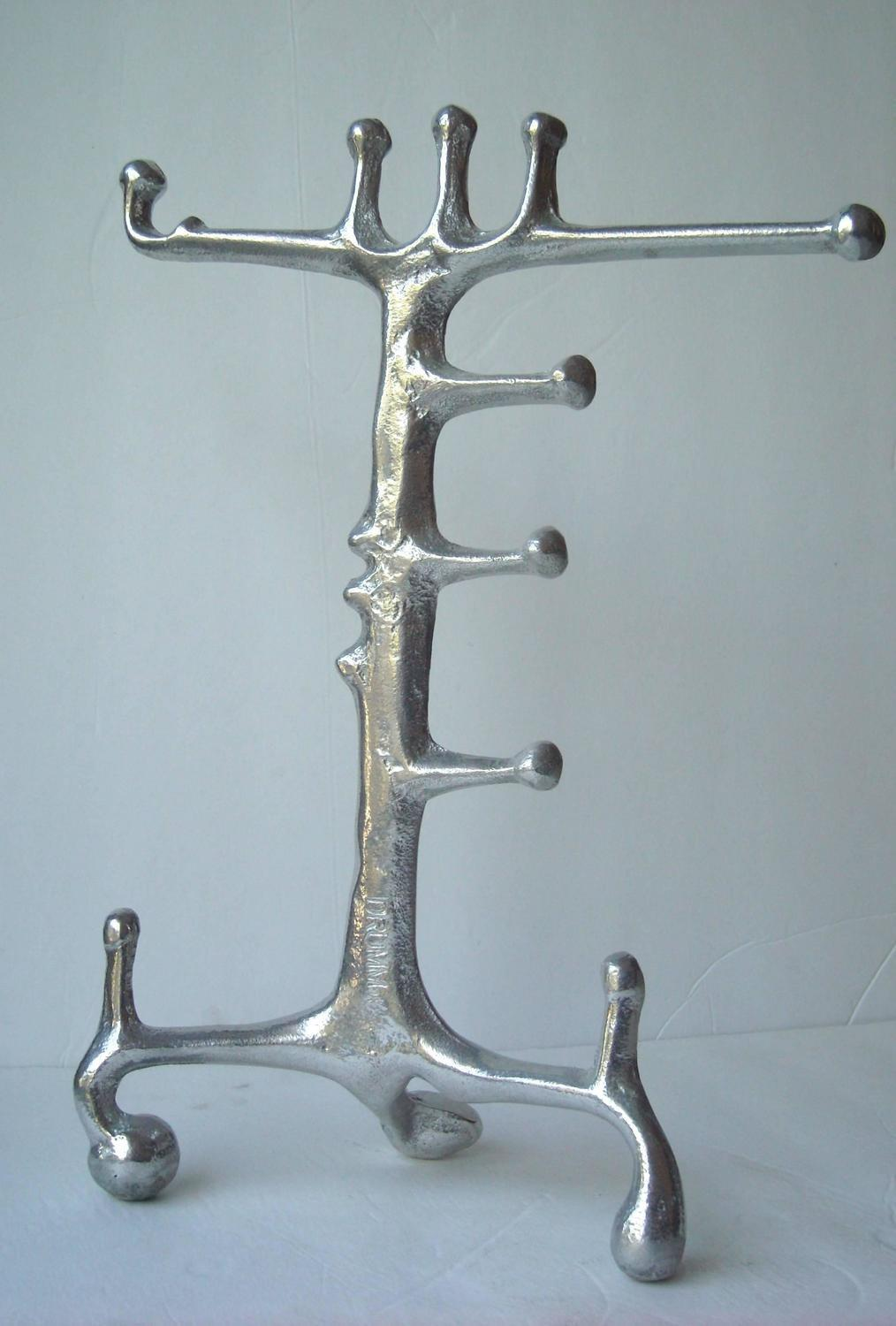 Donald Drumm Aluminum Sculpture Jewelry Stand Signed