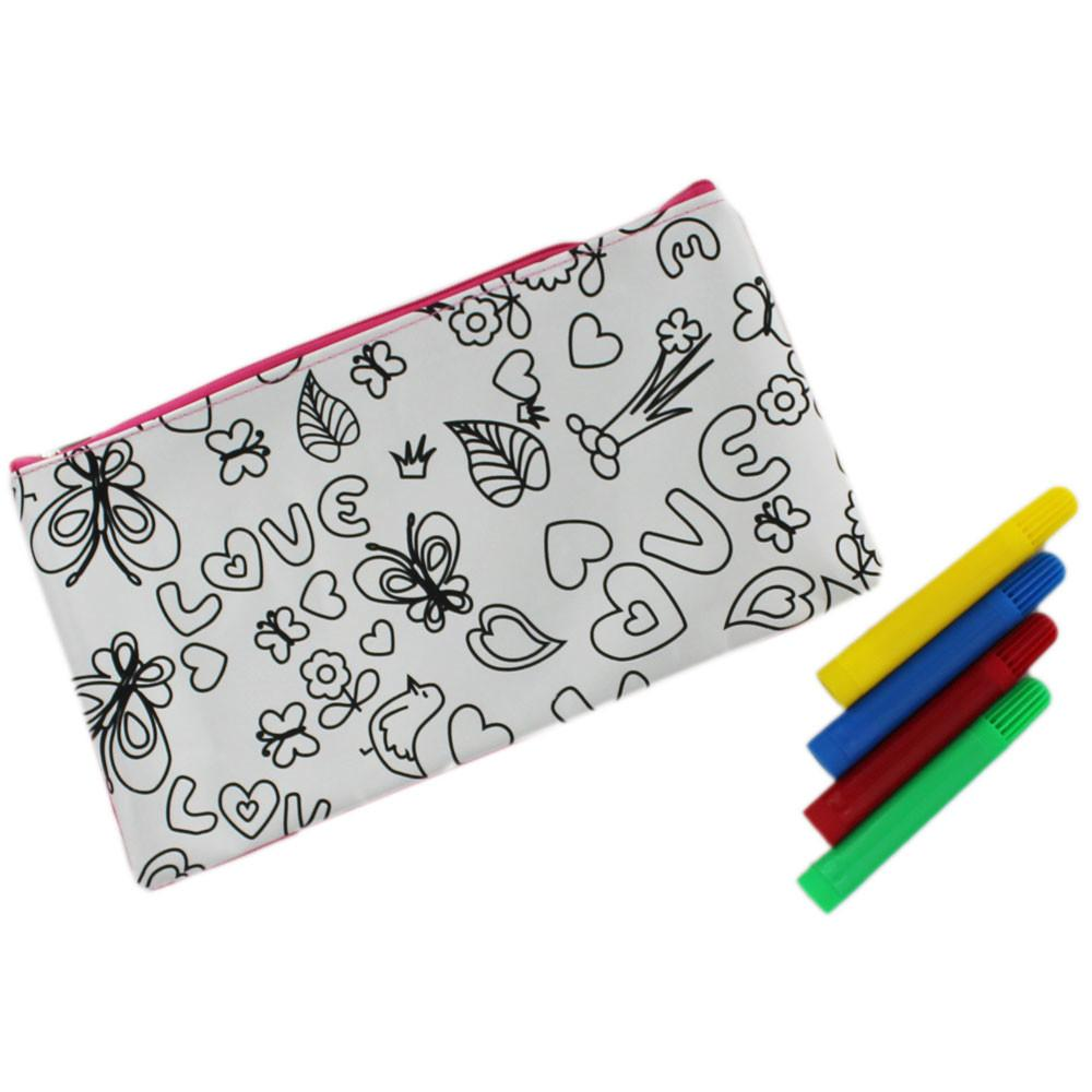 Doodle Pencil Case Craft Activities Kids Works