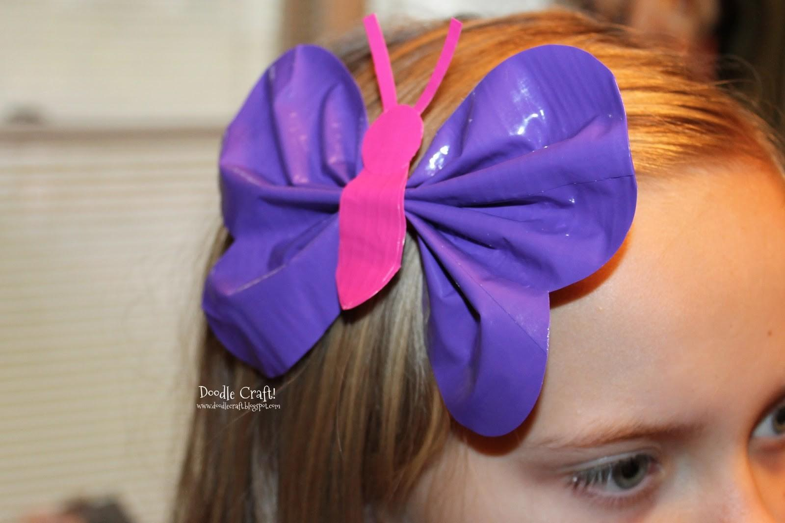 Doodlecraft Butterfly Duct Tape Hairbow