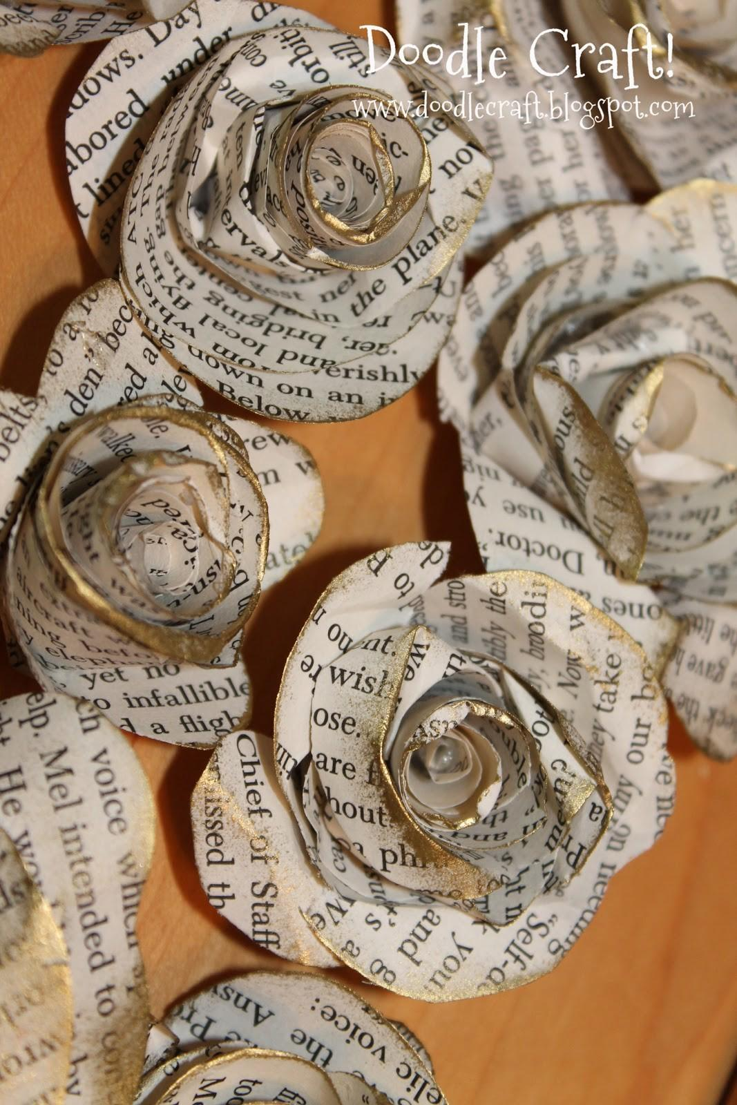 Doodlecraft Upcycled Book Rosettes