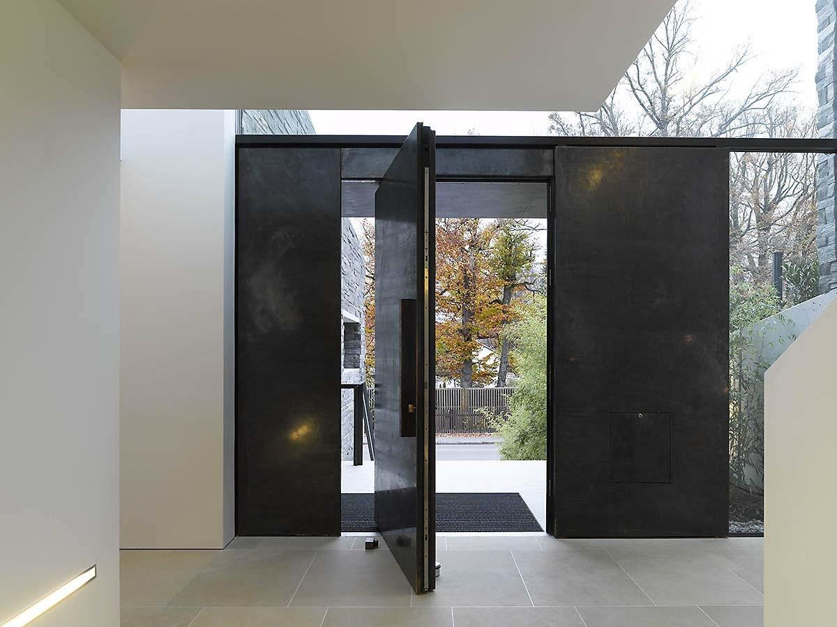 Door Design Modern Stone House Contemporary
