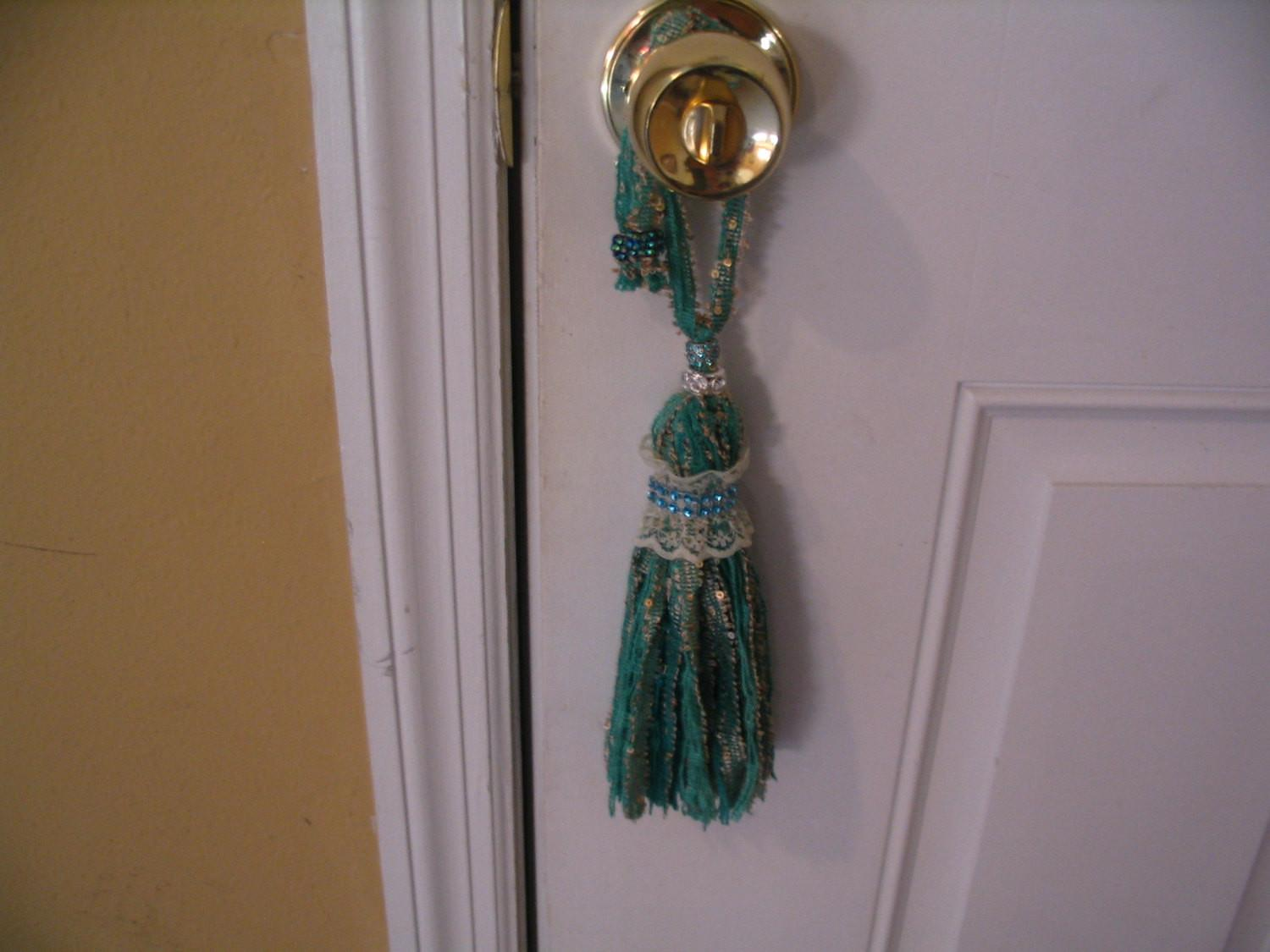 Door Knob Hanger Tassel Side Curtain Home Decor