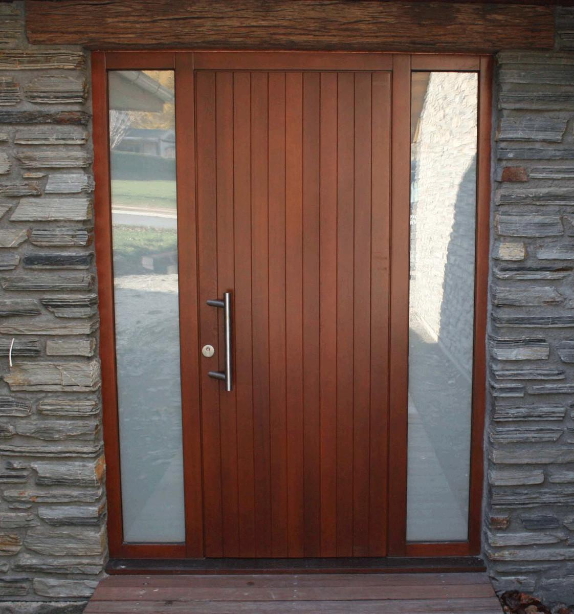Door Outside Single Front One Sidelight