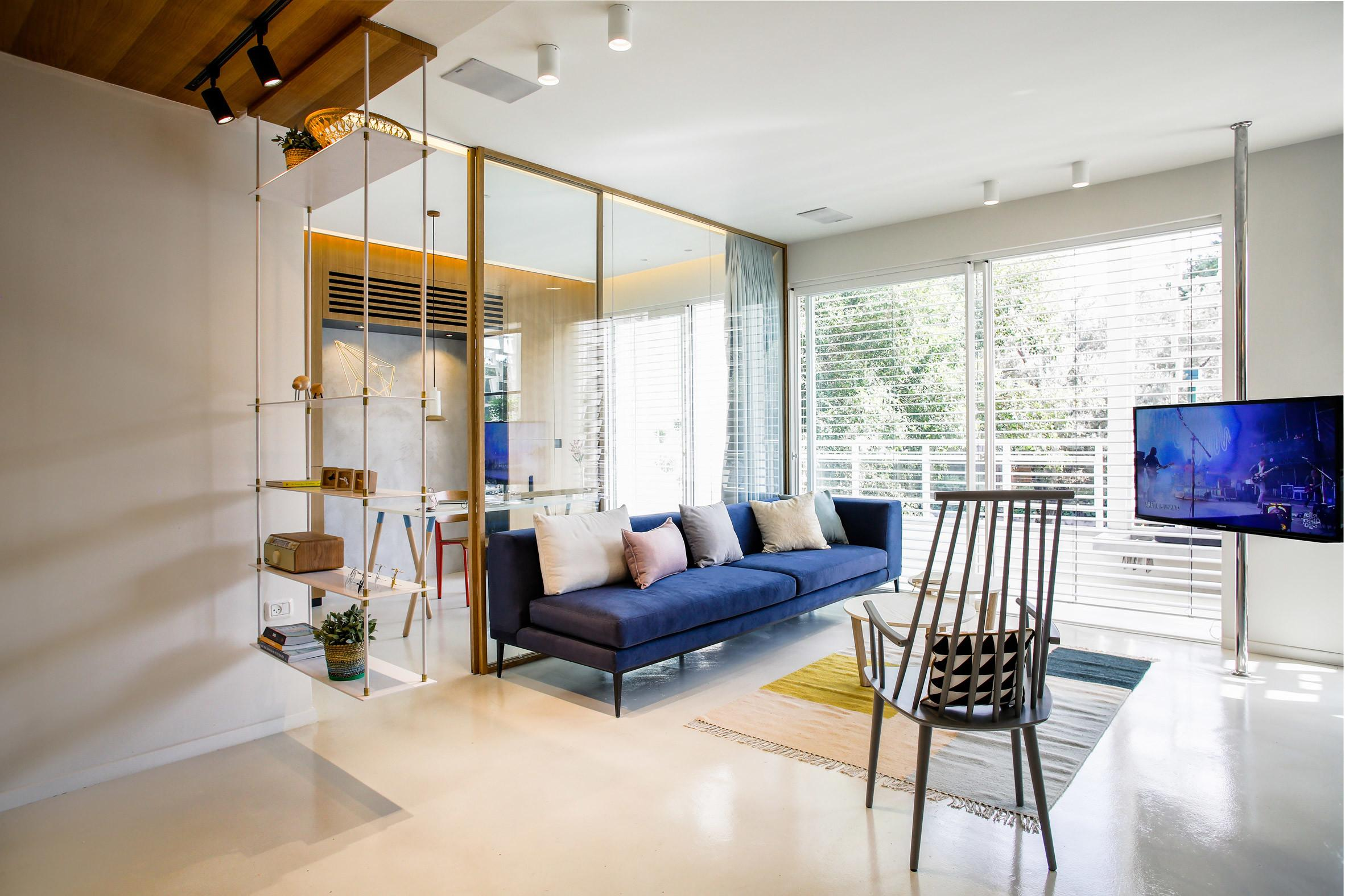 Dori Updates 1950s Apartment Tel Aviv Open Plan