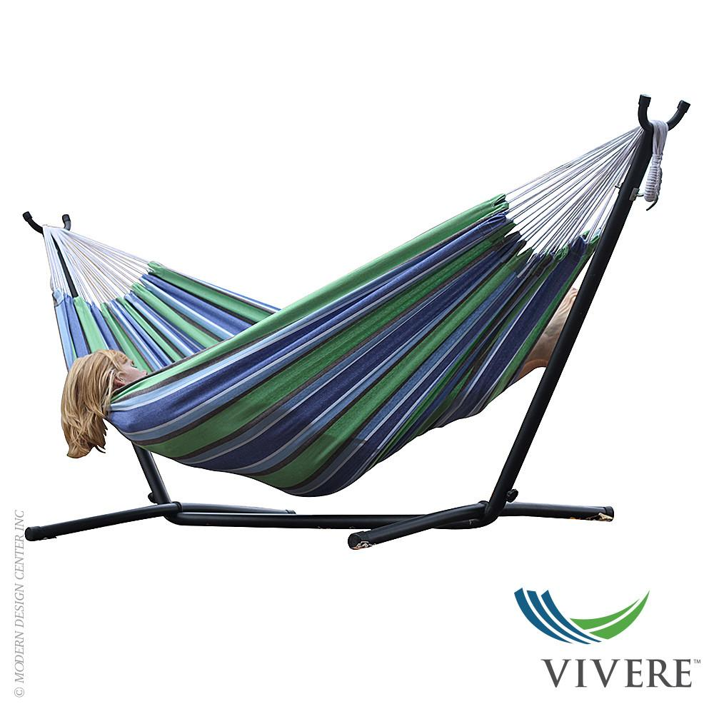 Double Cotton Hammock Stand Combo Vivere Modernoutlet