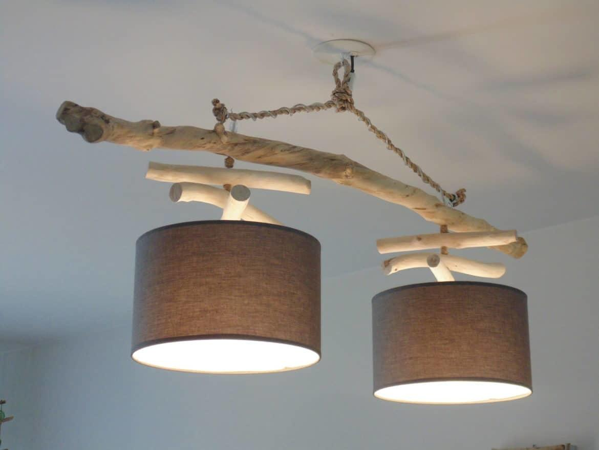 Double Driftwood Chandelier Lights