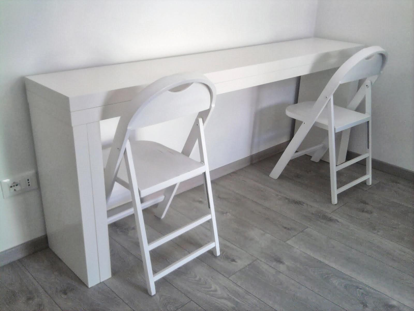 Double Malm Console Becomes People Table