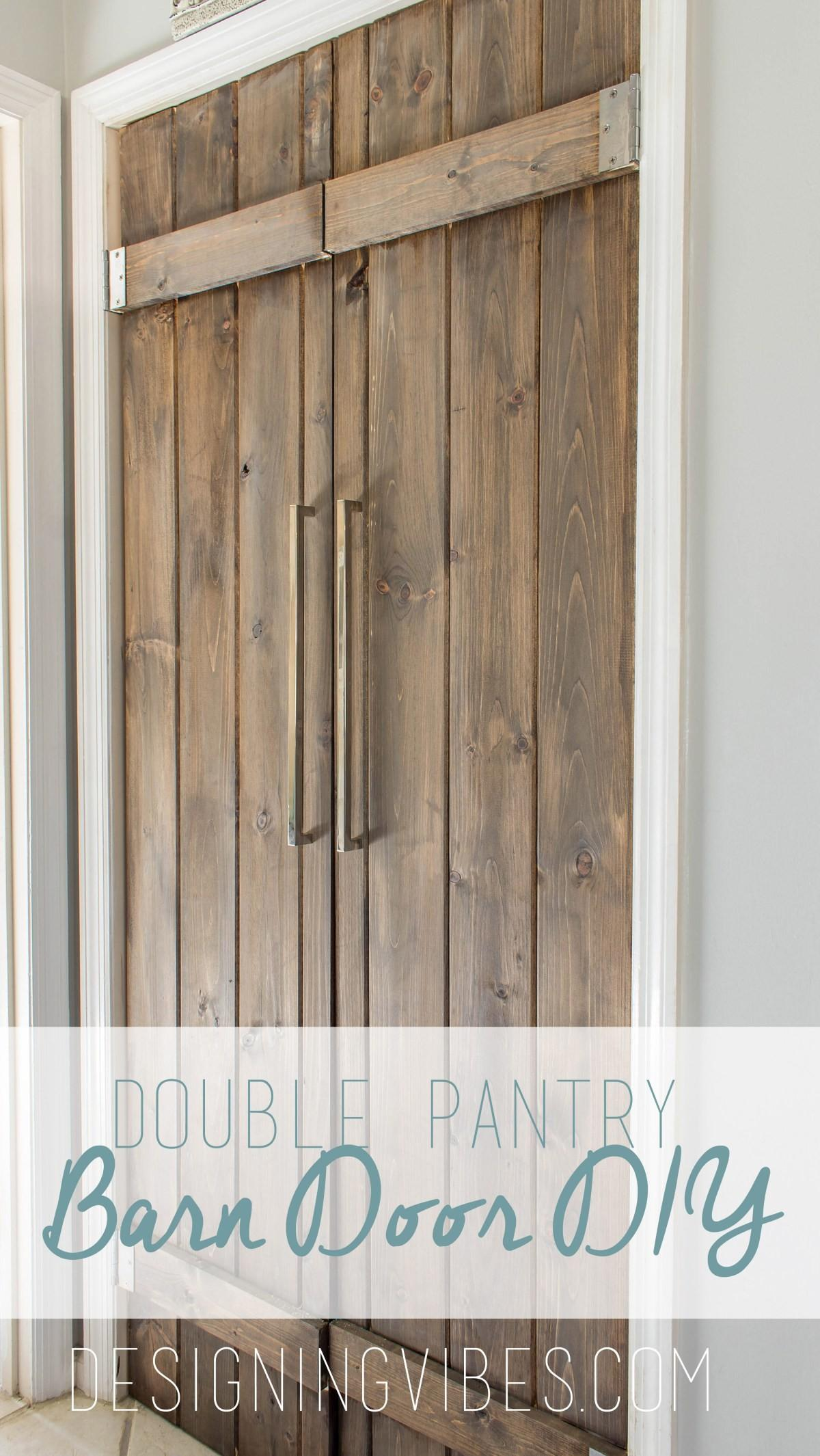 Double Pantry Barn Door Diy Under
