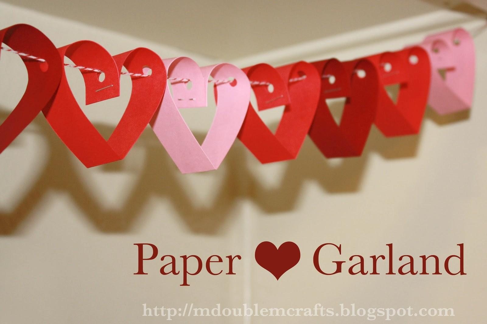 Double Paper Heart Garland Tutorial