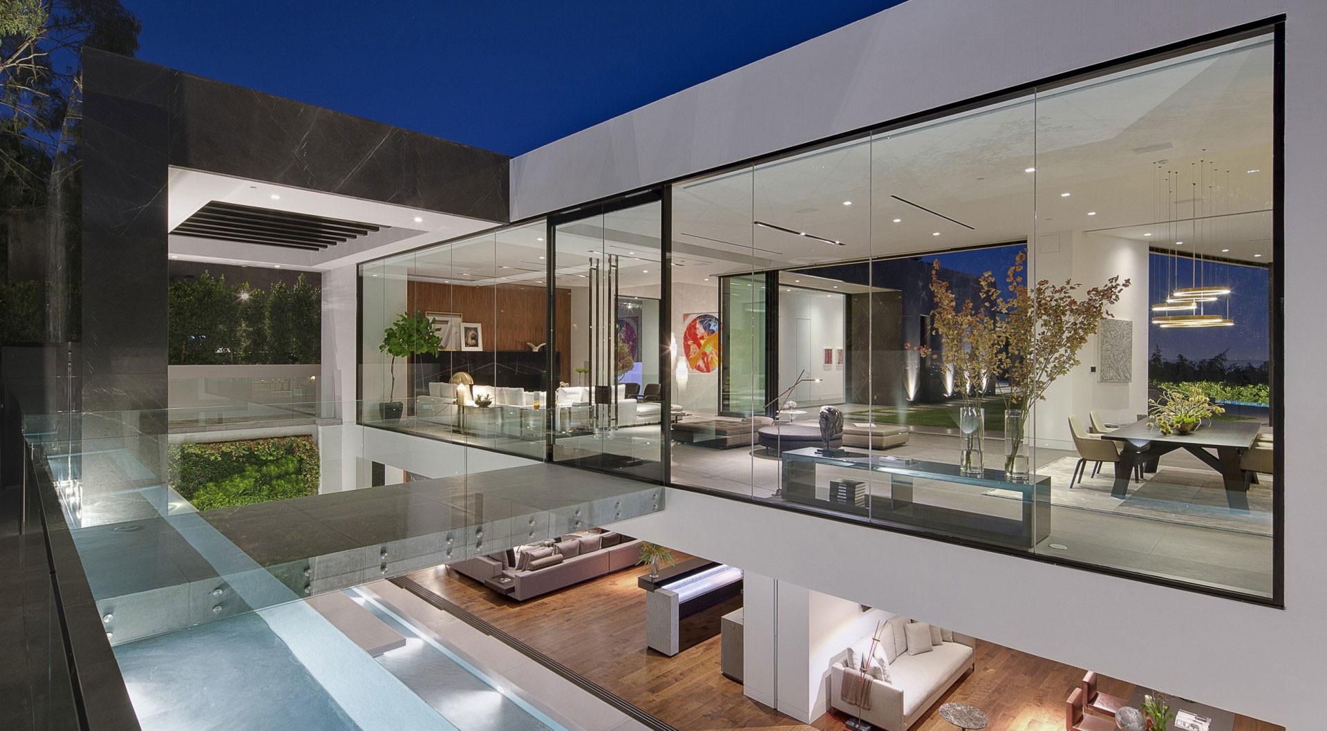 Dramatic Glass Home Overlooking Basin