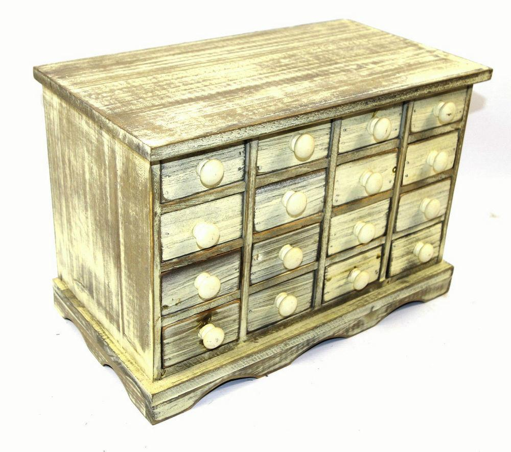 Drawer White Trinket Drawers Storage Unit Distressed