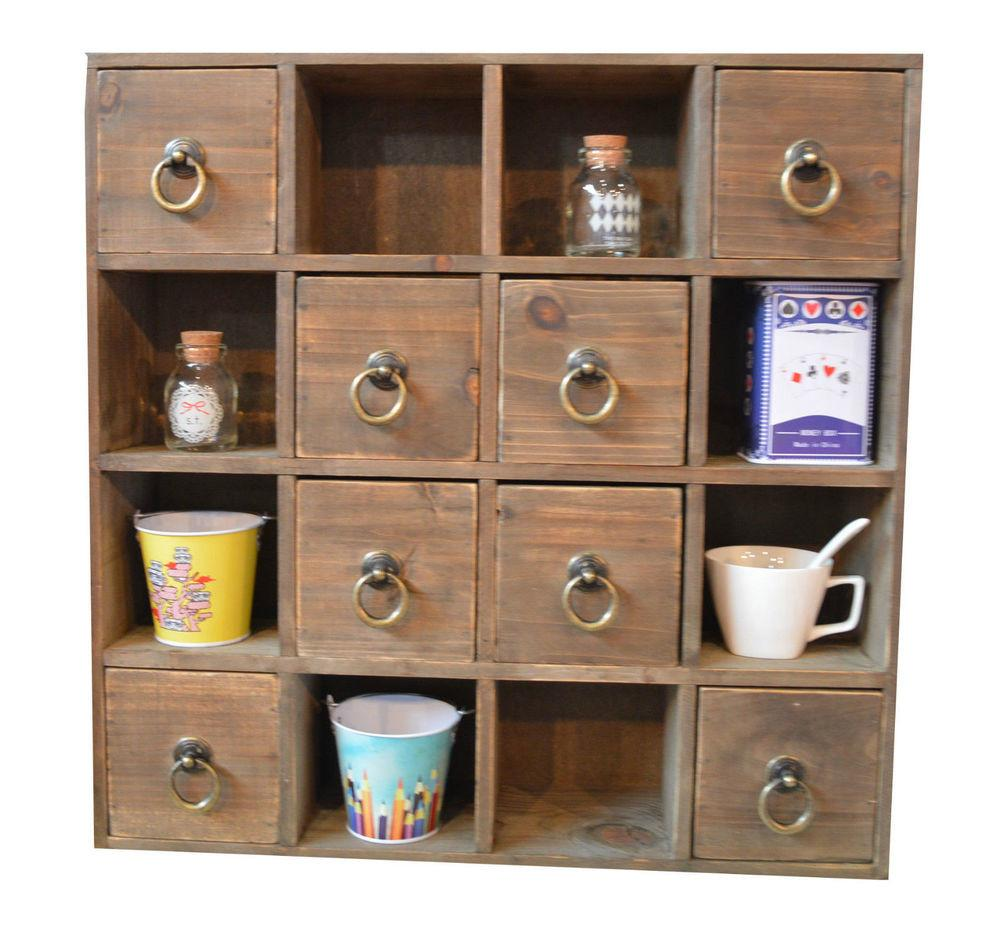 Drawer Wooden Trinket Drawers Shelf Storage Unit