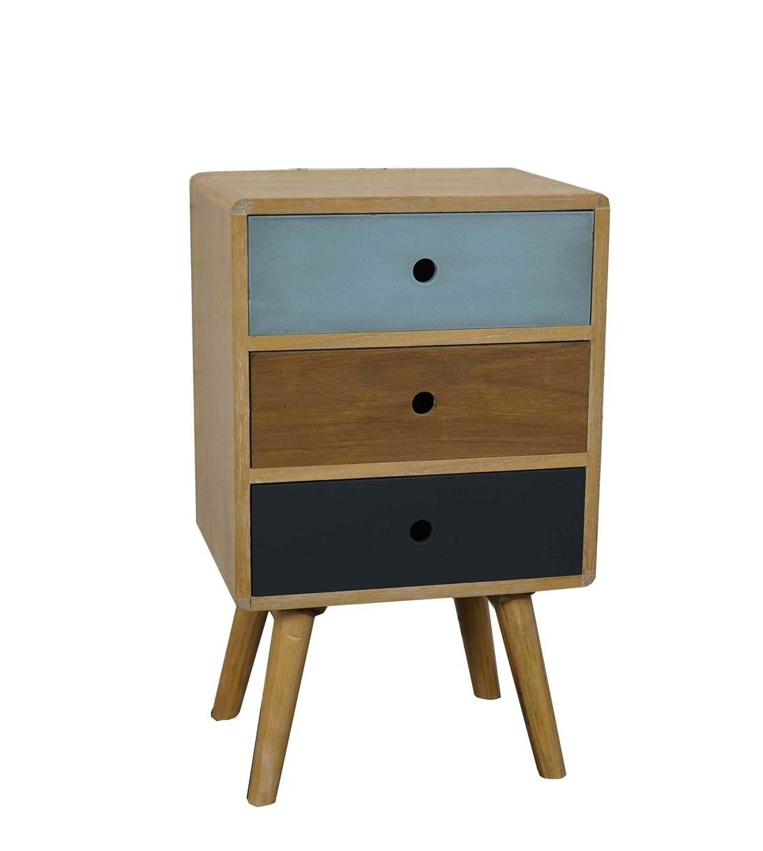 Drawers Bedside Retro Mid Century Style