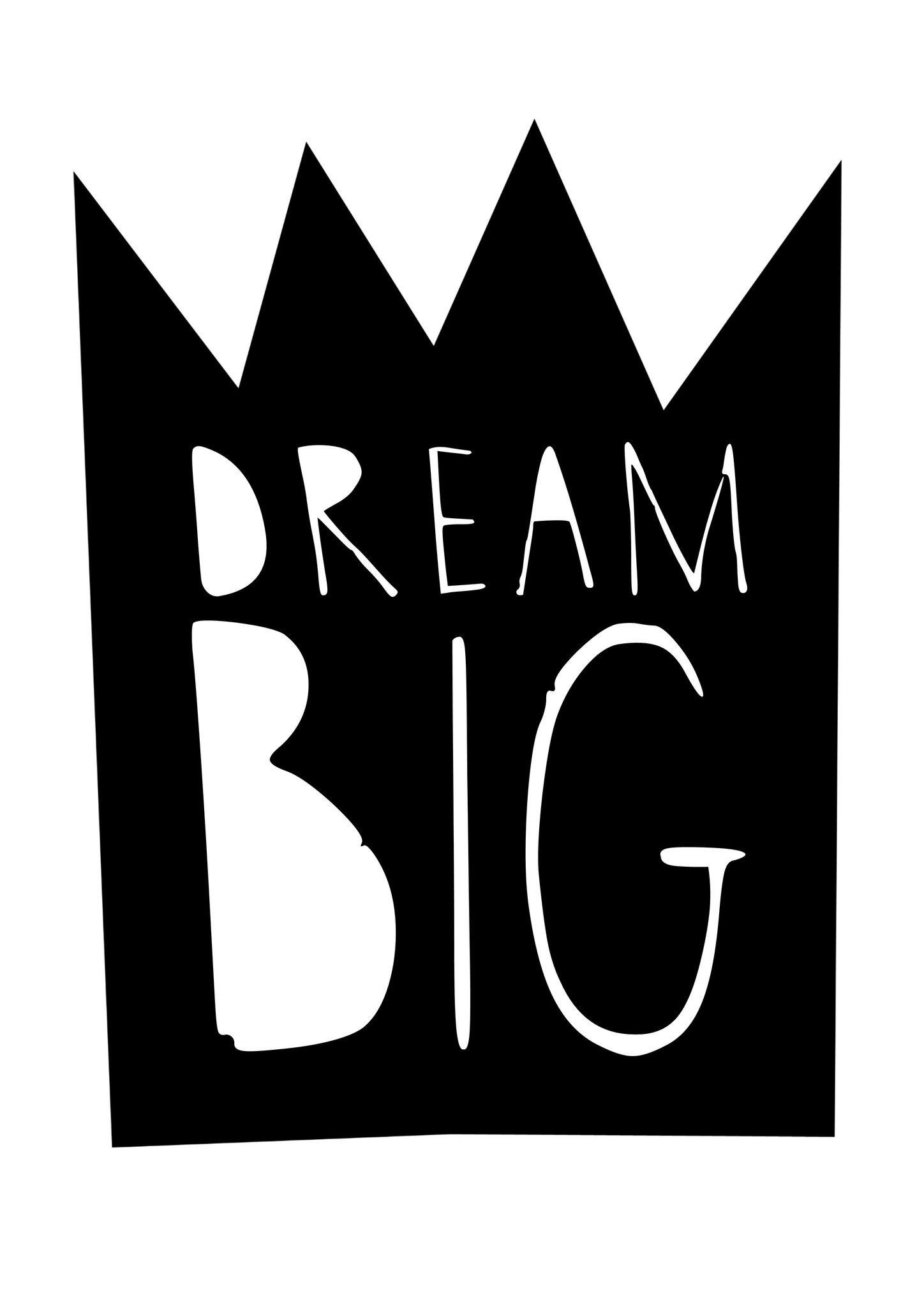 Dream Big Print Nursery Bedroom Prints Boys Girls