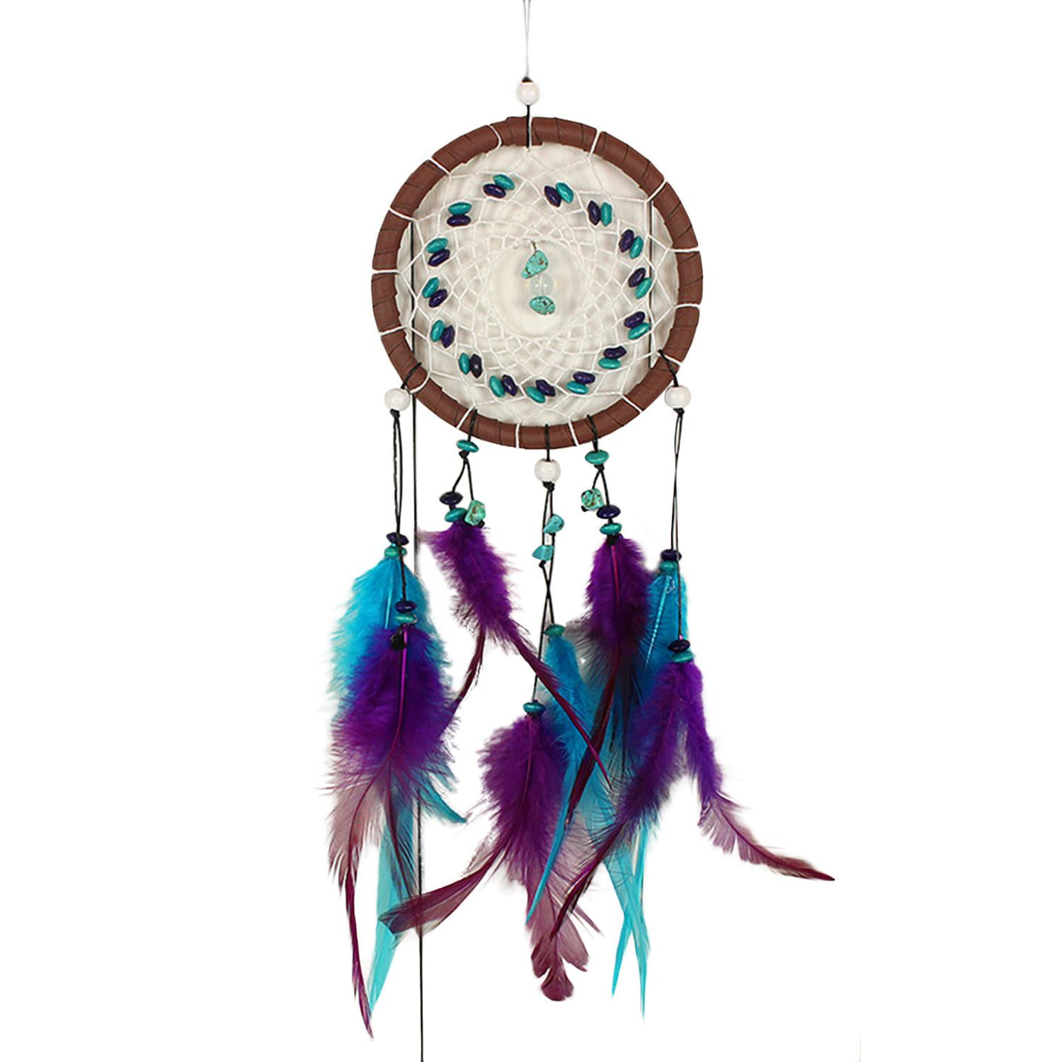 Dream Catcher Large Purple Traditional Style Dreamcatcher