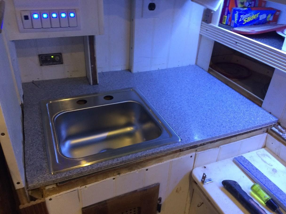 Dreamboat Annie Westsail Galley Upgrade