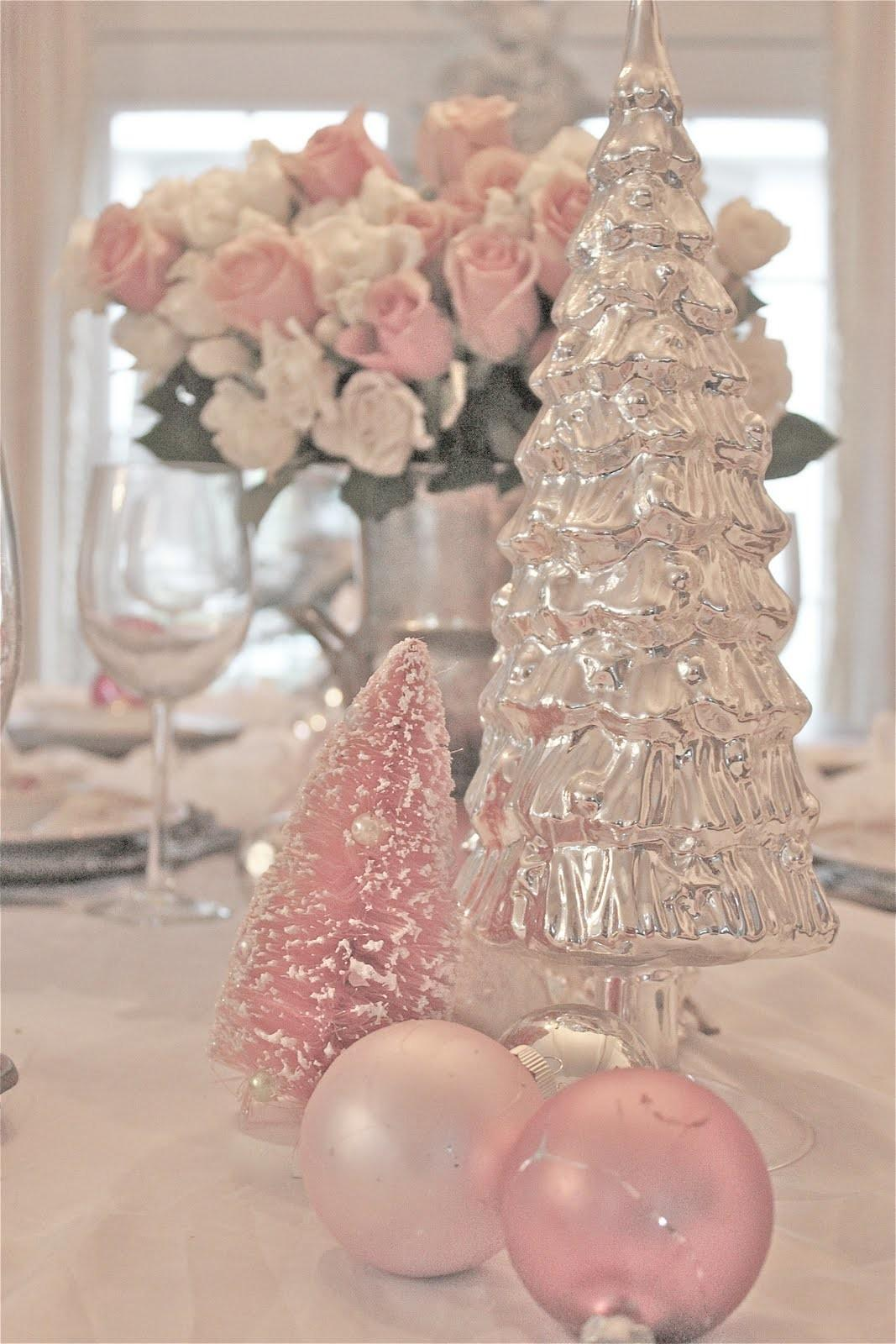 Dreaming Pink Christmas French Country Cottage