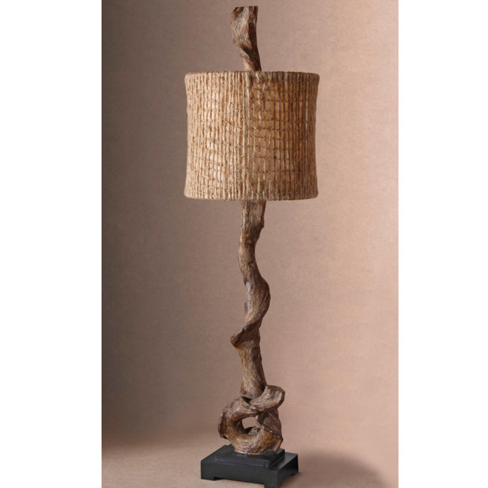 Driftwood Buffet Table Lamp Shades Light