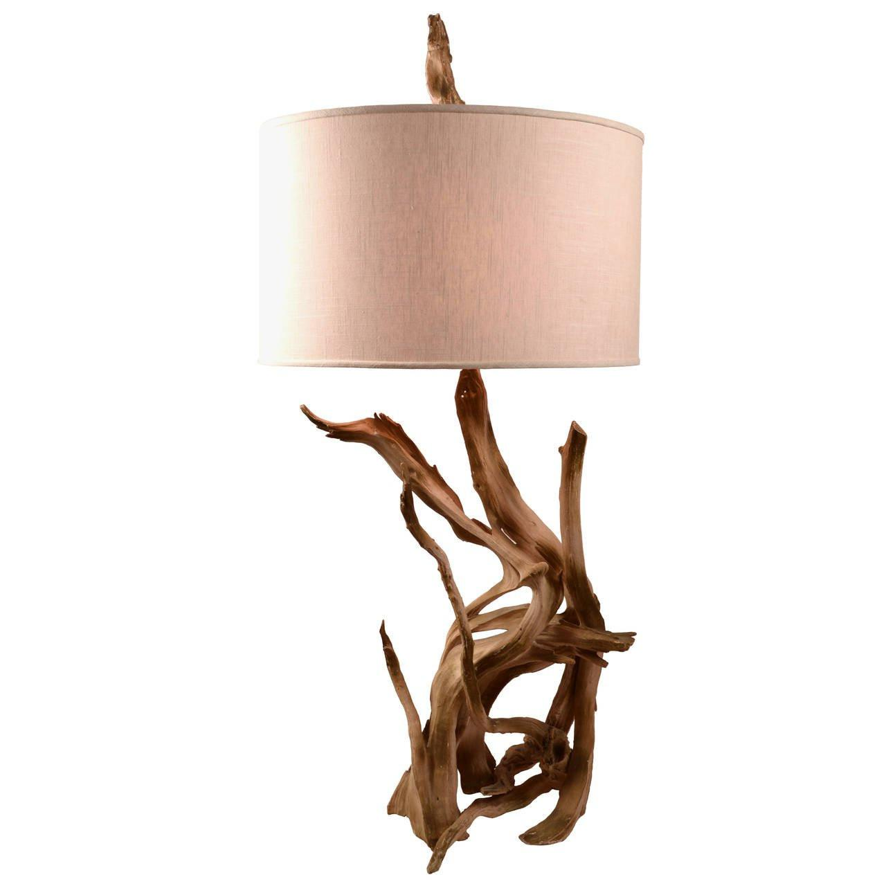 Driftwood Table Lamp Home Combo