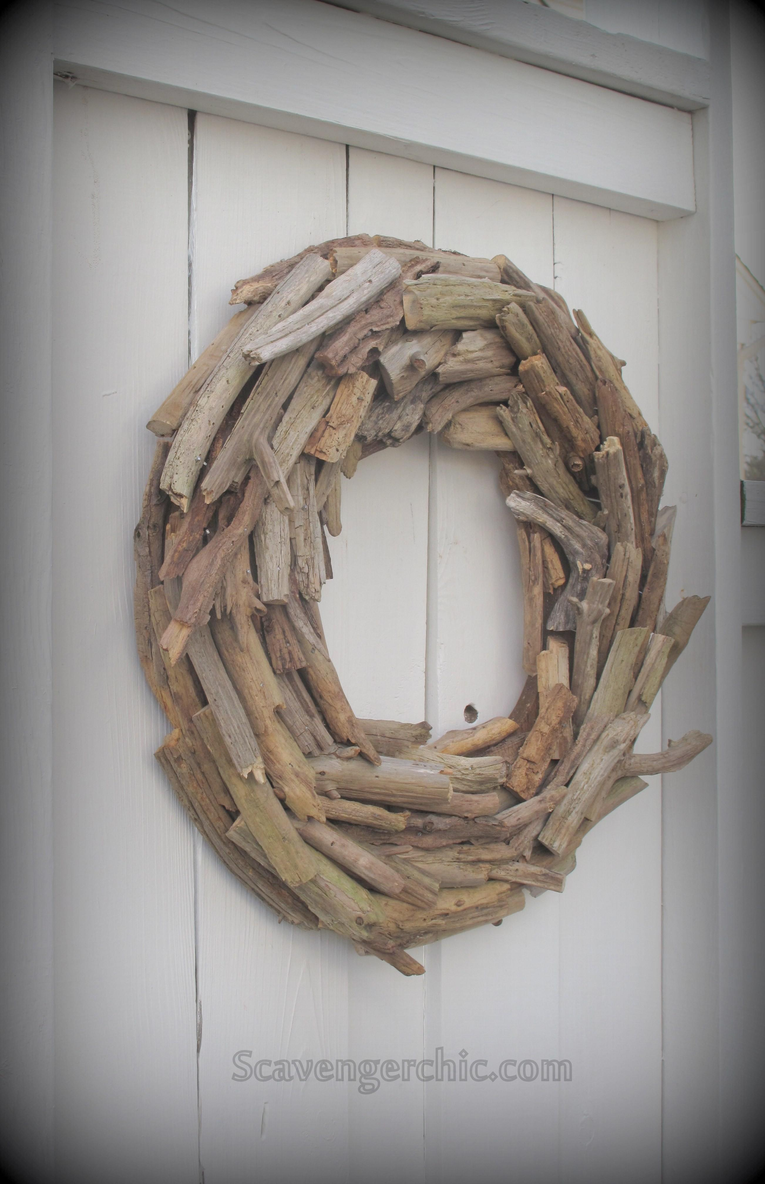 Driftwood Wreath Diy Scavenger Chic