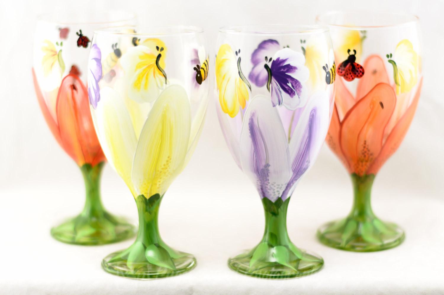 Drinking Glasses Each Set Lily