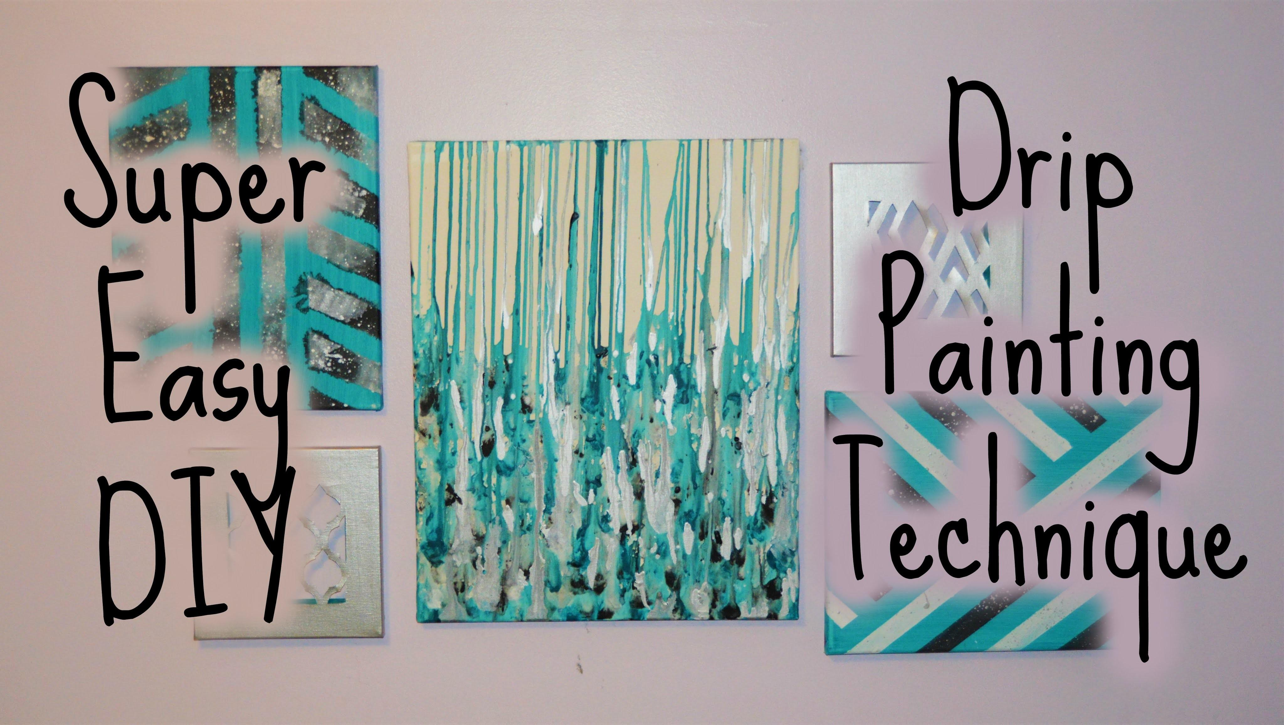 Drip Paint Canvas Diy