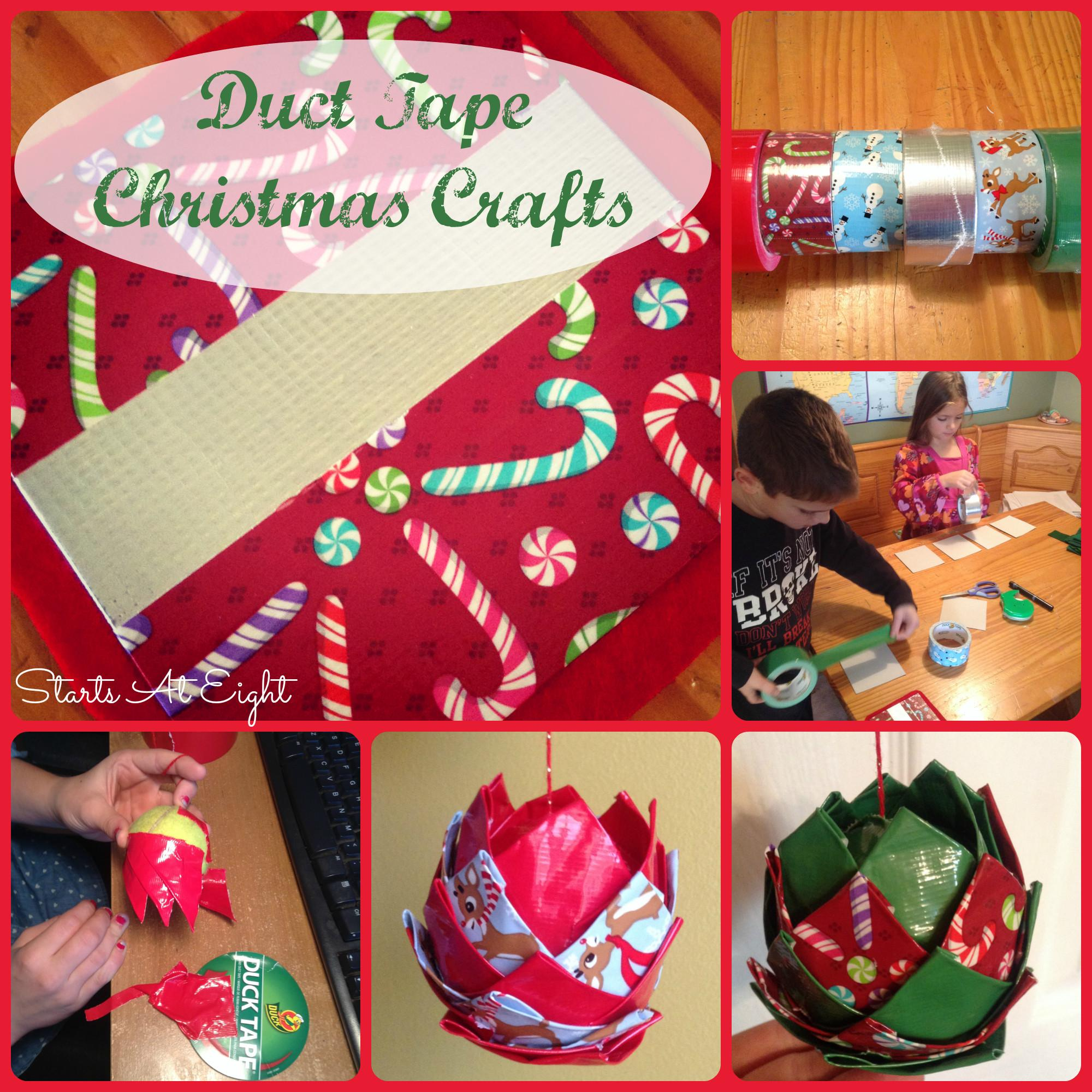 Duct Tape Christmas Crafts Startsateight
