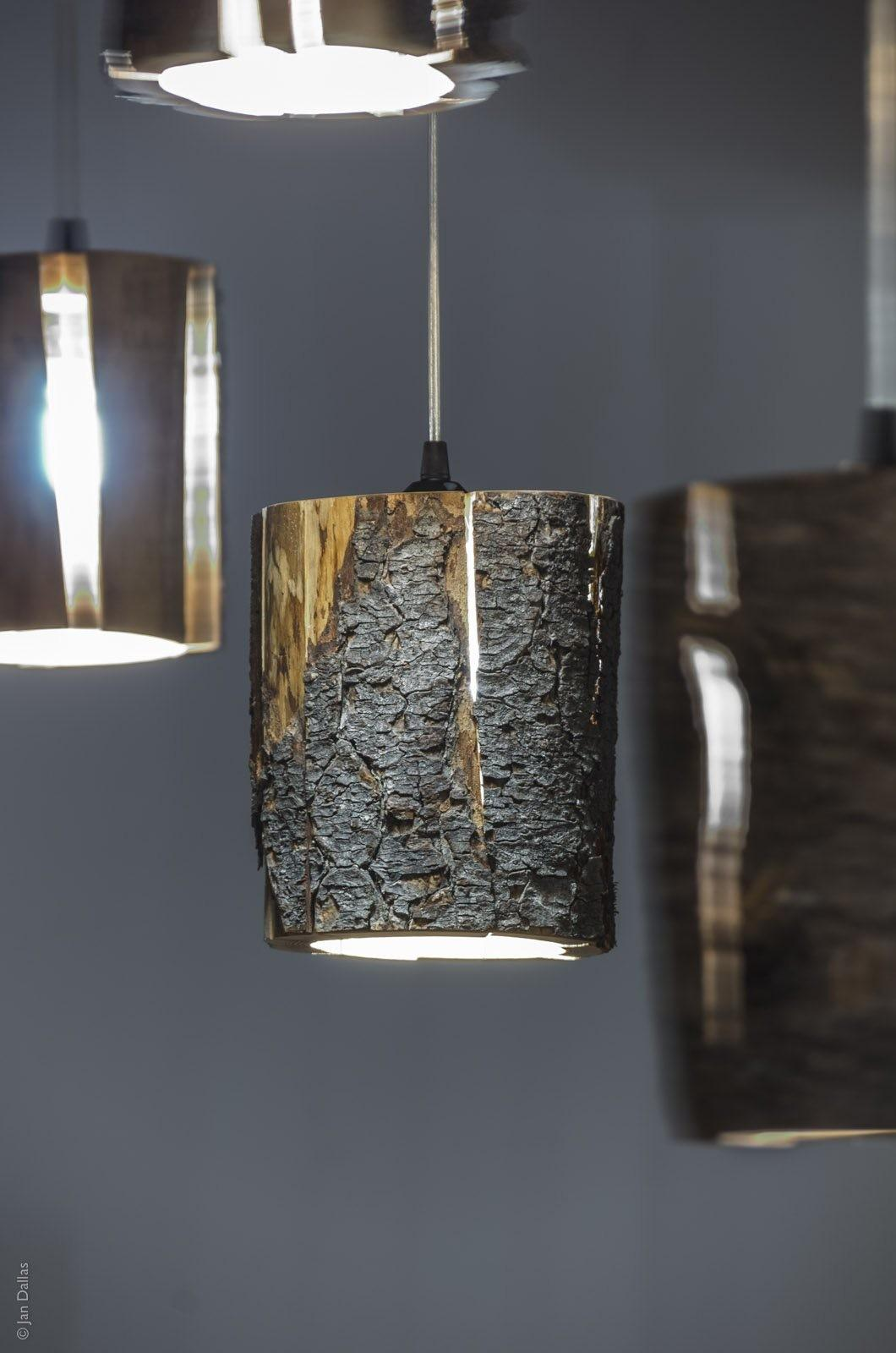 Duncan Meerding Cracked Log Lamps Making Recycled