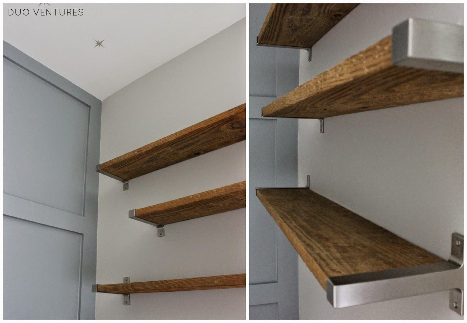 Duo Ventures Nursery Diy Reclaimed Barnwood Shelves