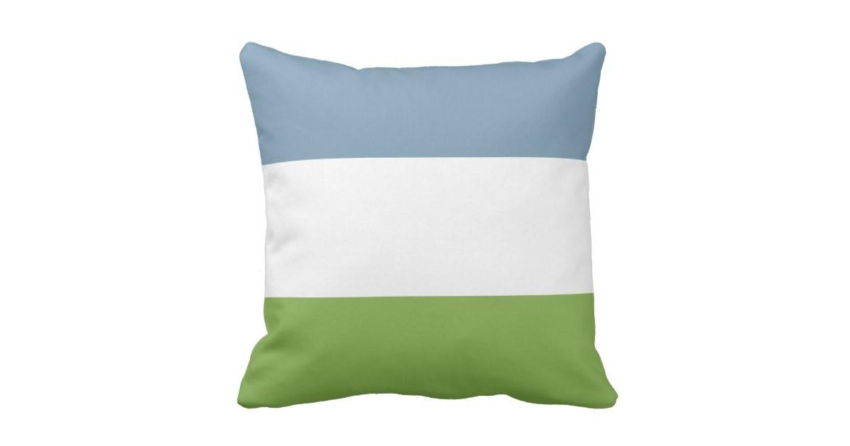 Dusky Blue Spring Green Throw Pillow Zazzle