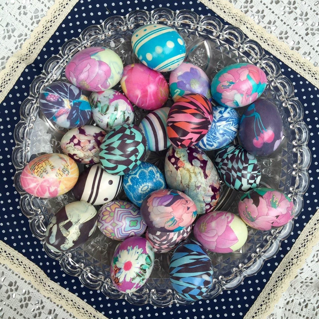 Dye Easter Eggs Silk Crafts Diy Projects