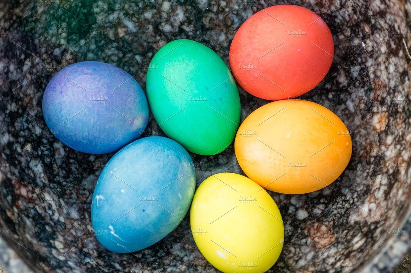 Dyed Easter Eggs Holiday Photos Creative Market
