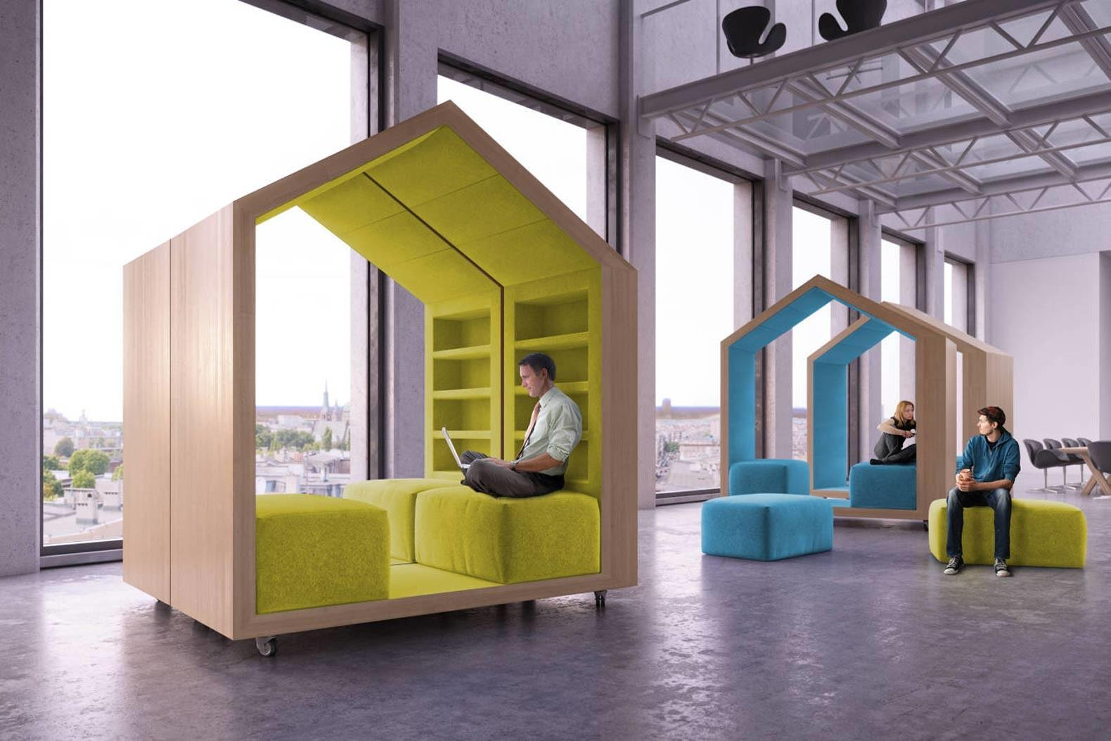 Dymitr Malcew Tree House Modules Provide Privacy Open